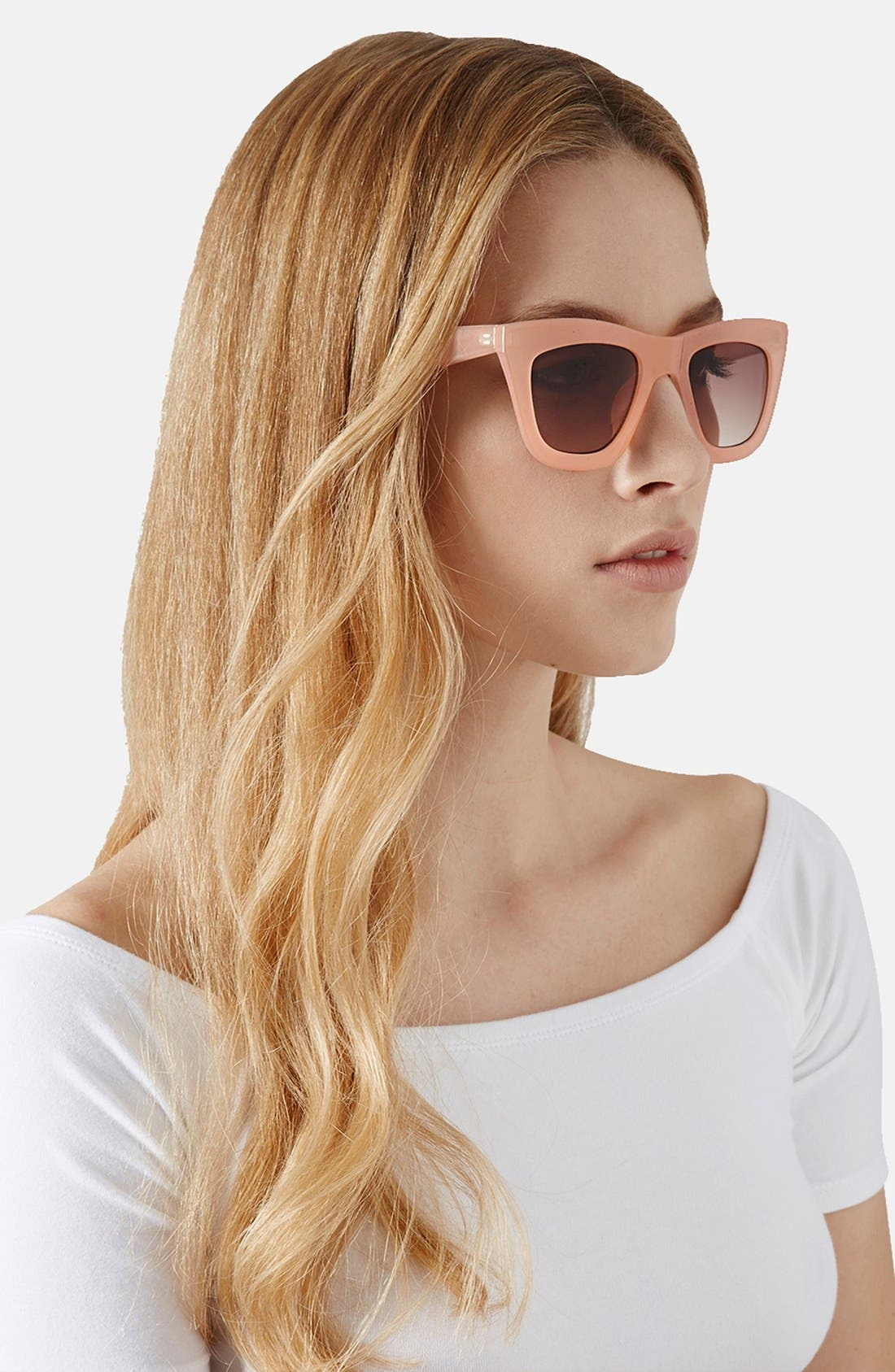Alternate Image 2  - Topshop 'Cruella' 49mm Cat Eye Sunglasses