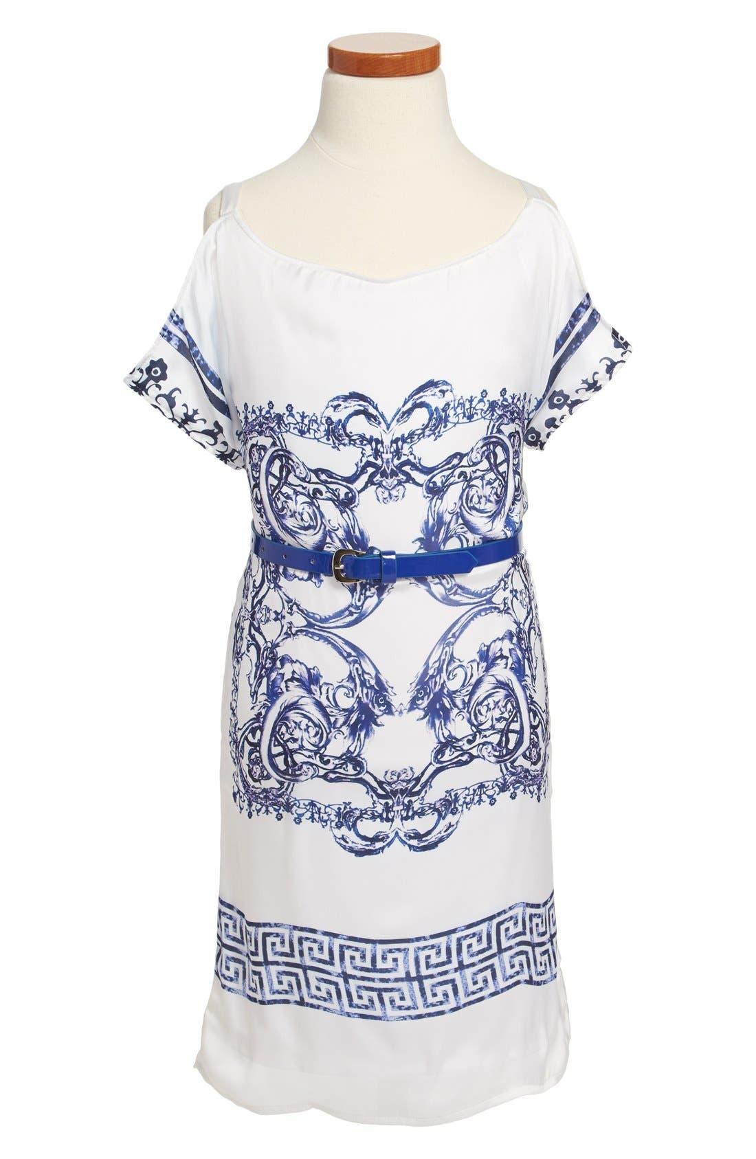 Alternate Image 1 Selected - Laundry by Shelli Segal Print Dress (Big Girls)