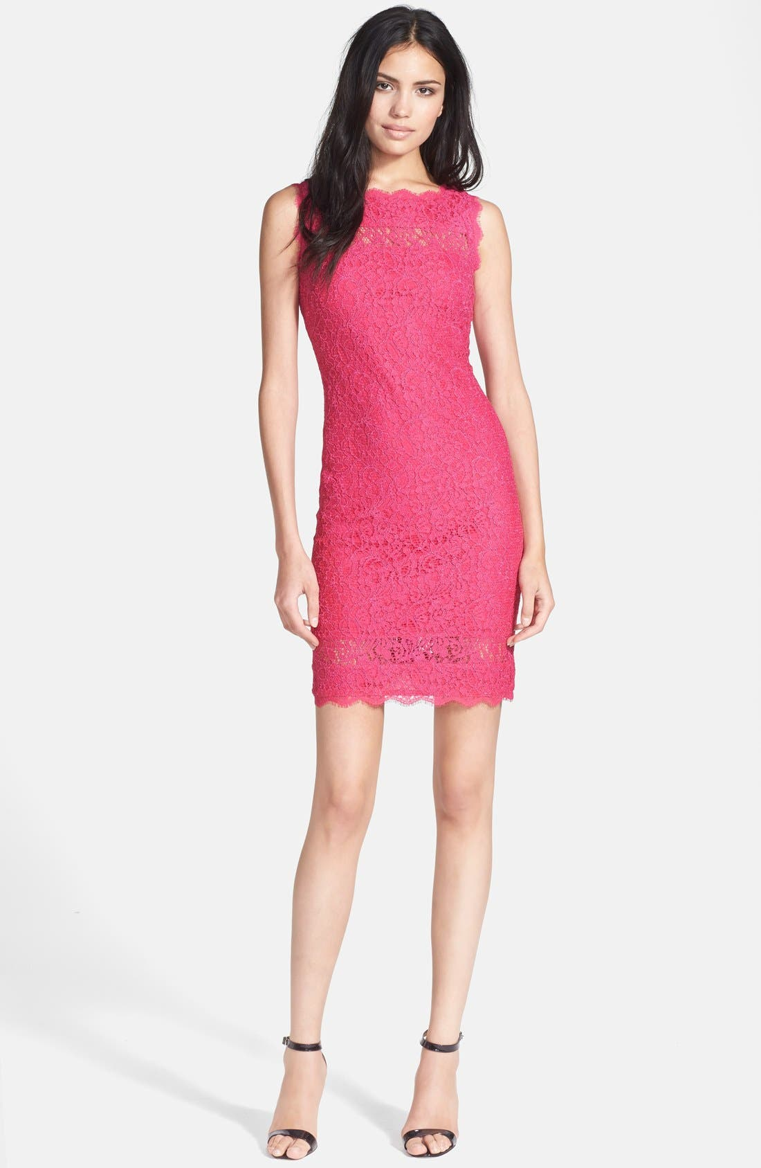 Alternate Image 3  - Adrianna Papell Lace Sheath Dress