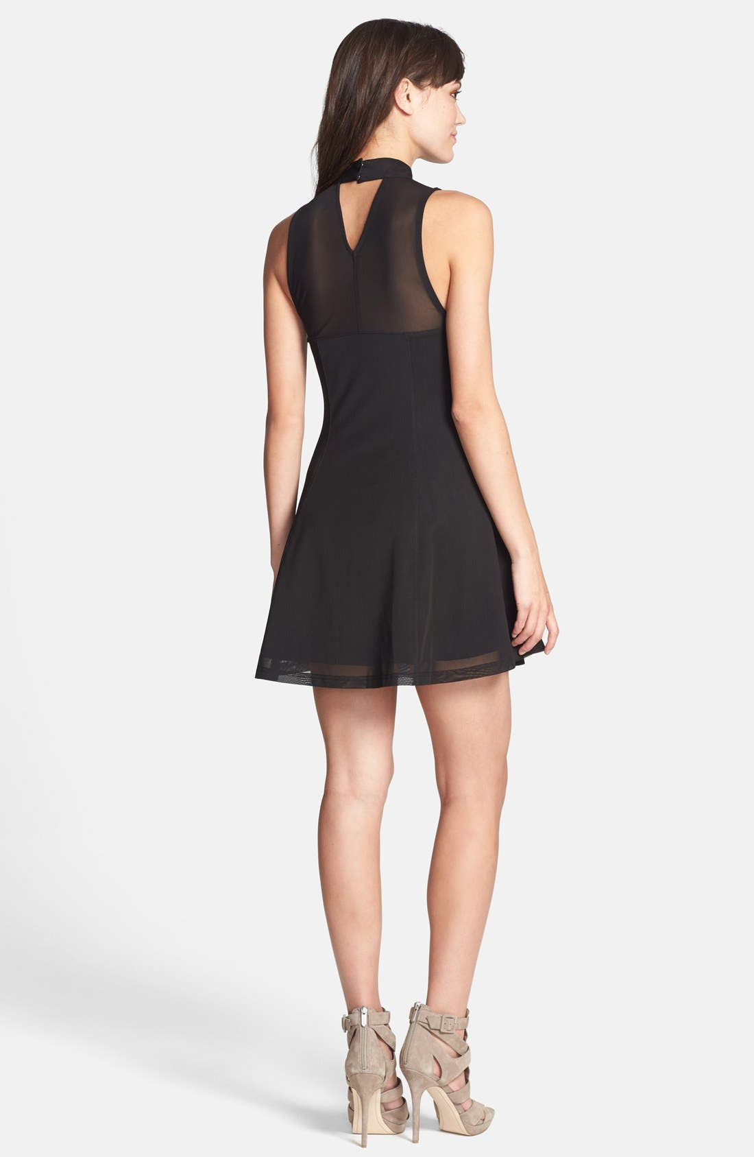 Alternate Image 2  - MINKPINK 'Here Comes the Night' Illusion Yoke Skater Dress