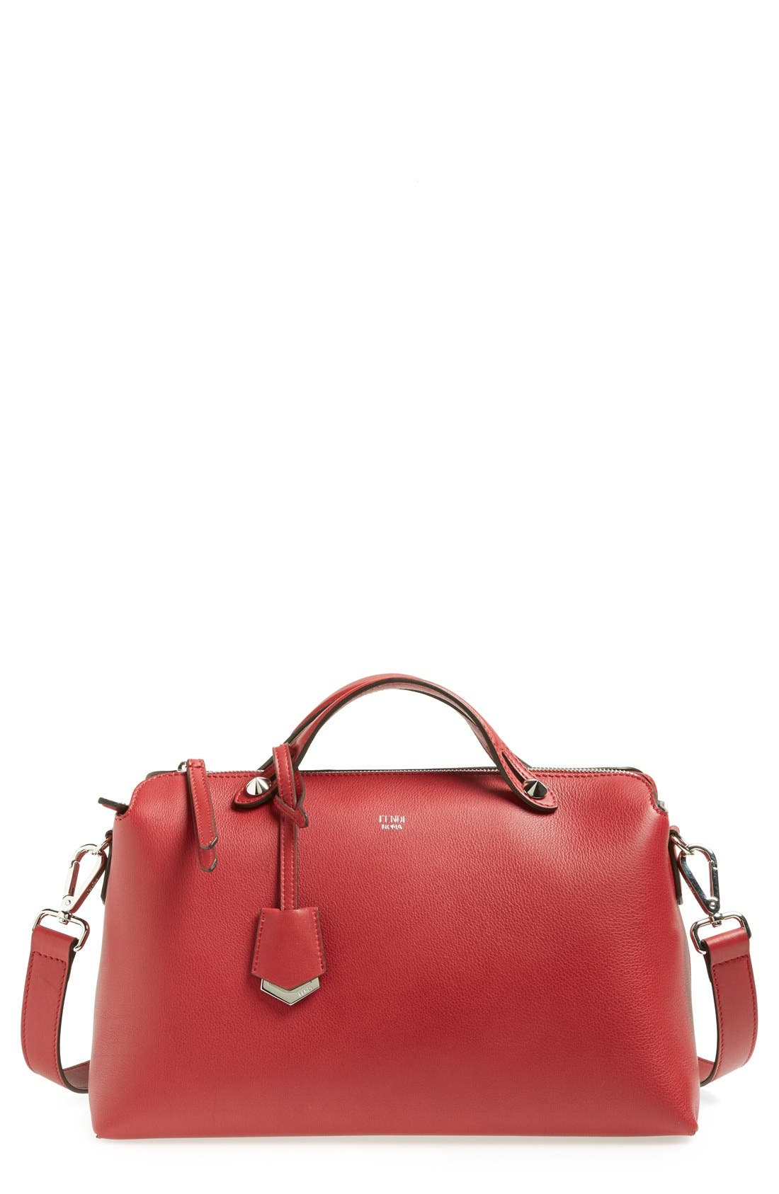 Main Image - Fendi 'Bauletto Grande' Leather Shoulder Bag