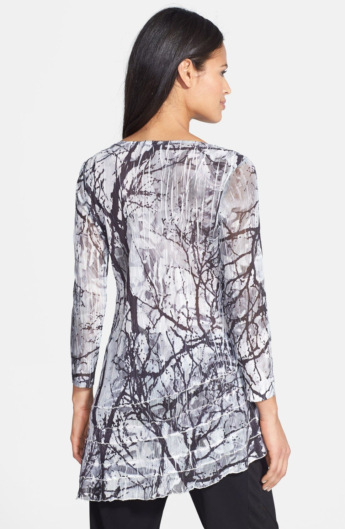 Alternate Image 2  - Komarov Asymmetrical Scoop Neck Print Tunic