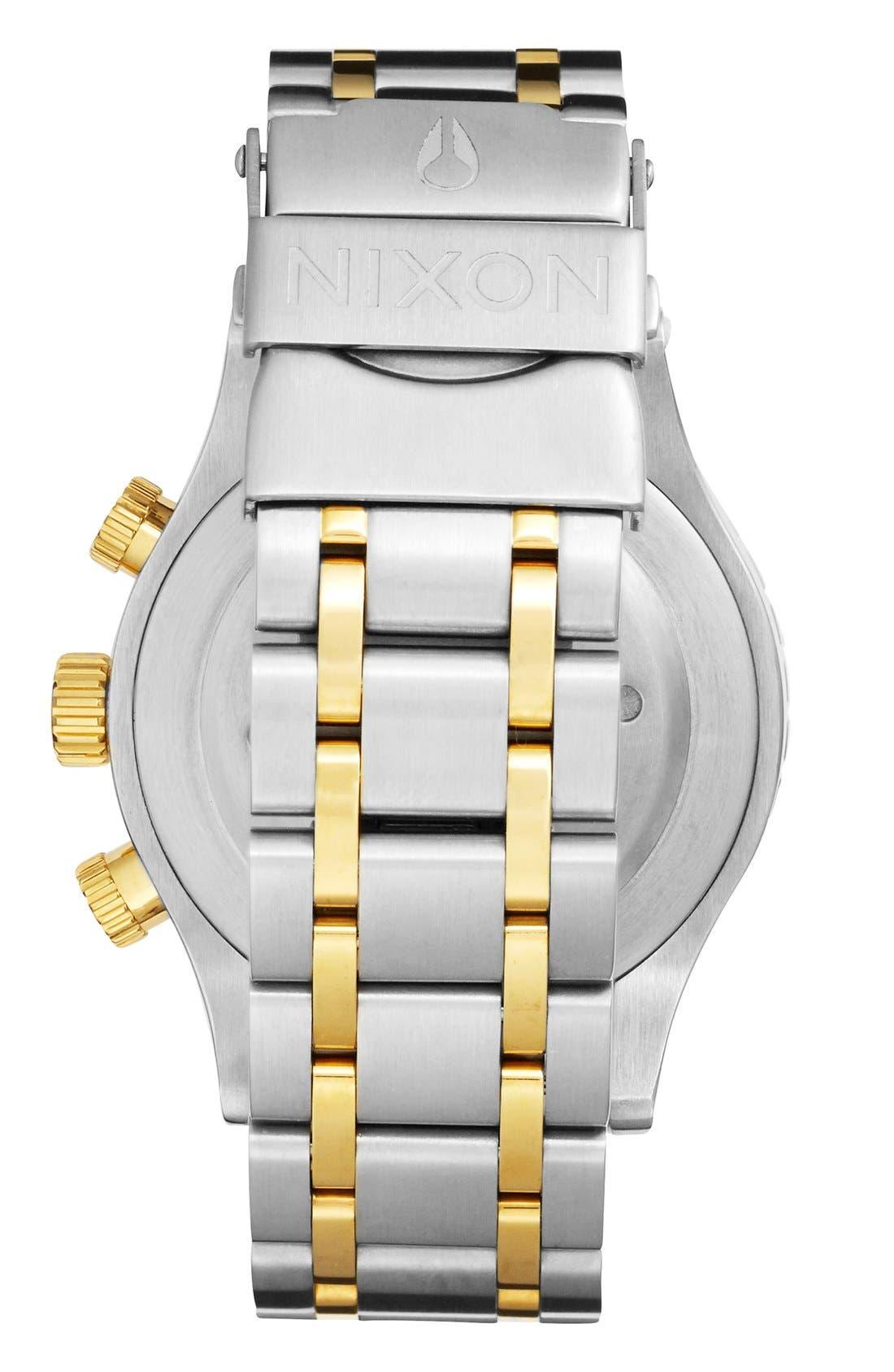 Alternate Image 2  - Nixon 'The 38-20' Crystal Bezel Chronograph Bracelet Watch, 38mm