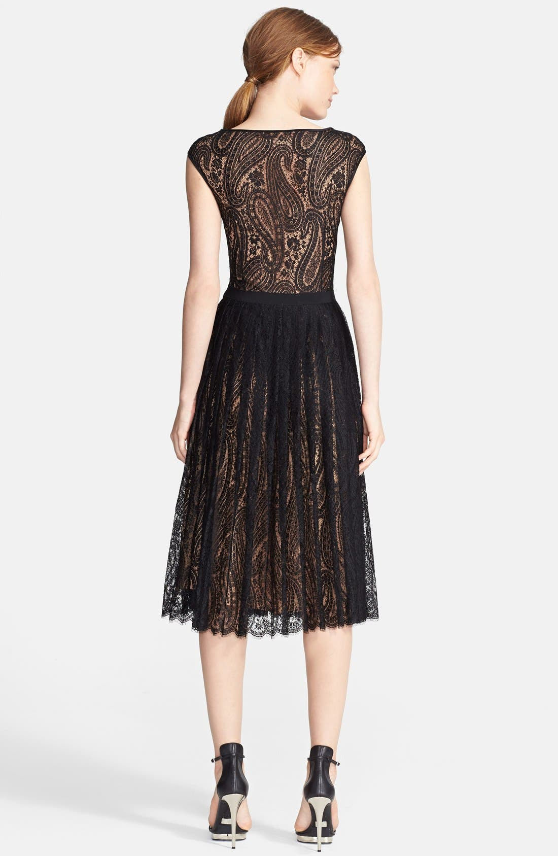 Alternate Image 2  - Michael Kors Boatneck Paisley Lace Dress