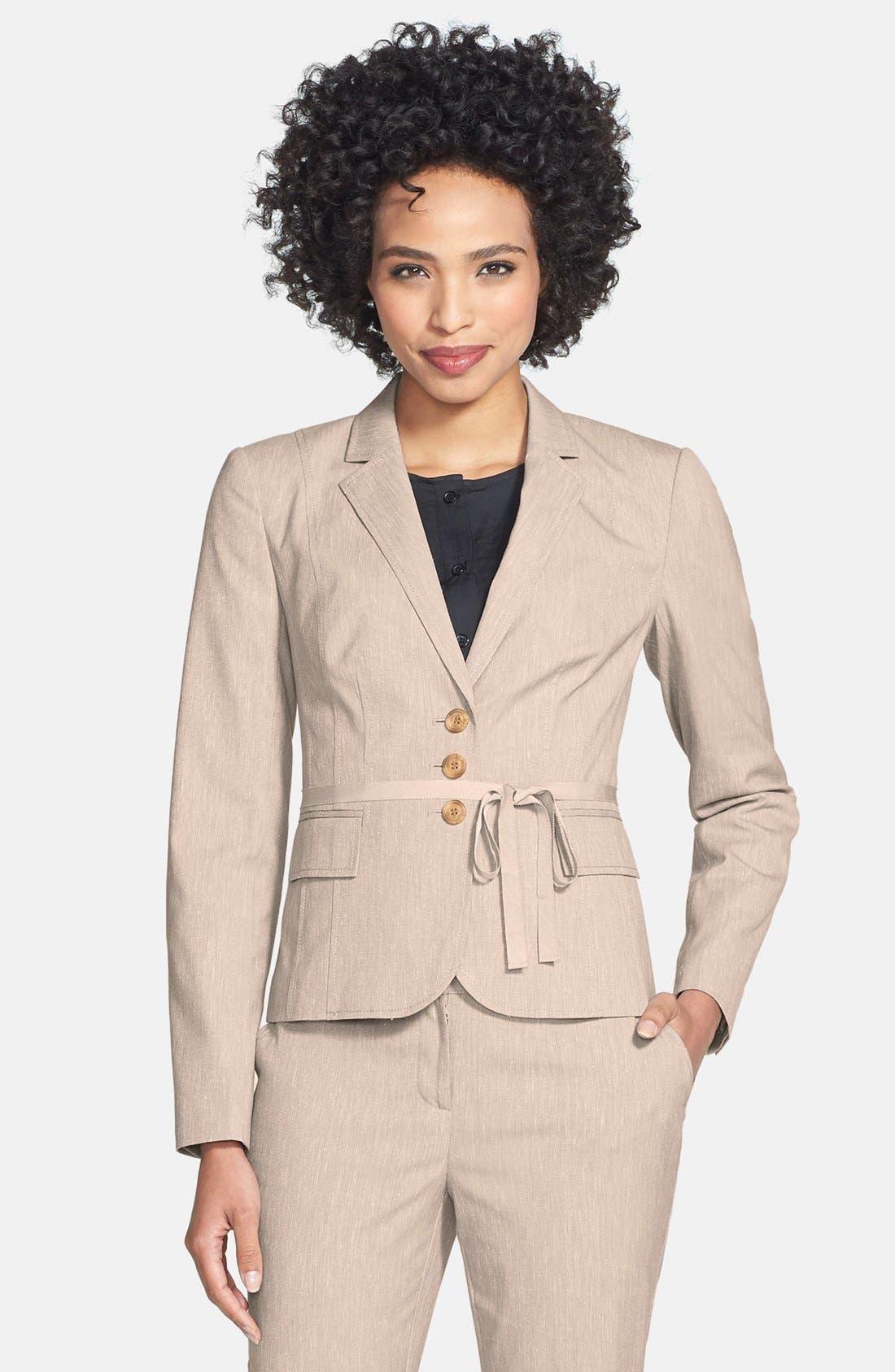 Alternate Image 2  - Halogen® Belted Cross Weave Jacket