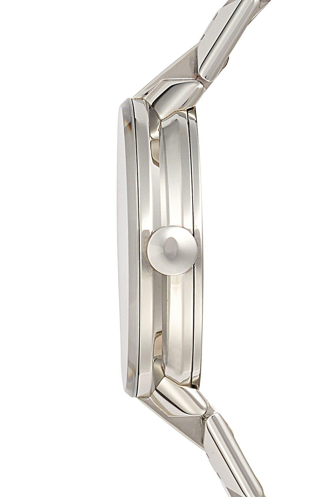 'Sapphire' Diamond Index Bracelet Watch, 28mm,                             Alternate thumbnail 3, color,                             Silver