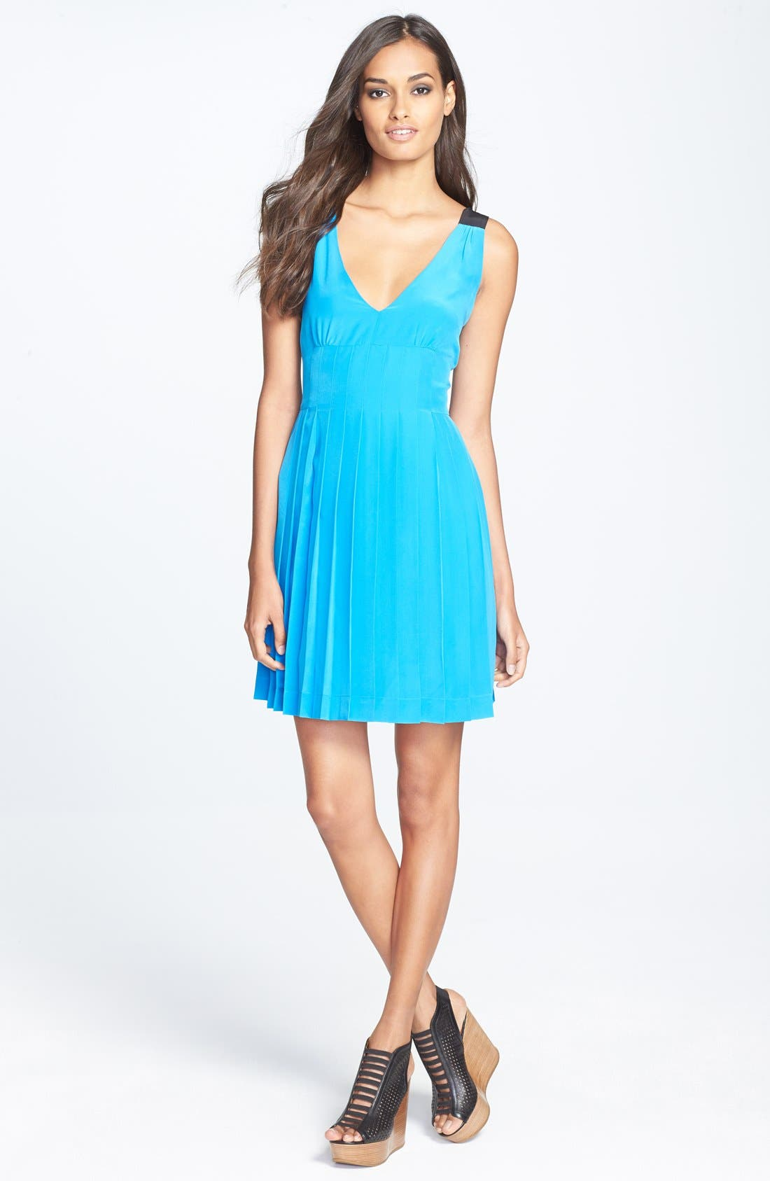 Alternate Image 1 Selected - MARC BY MARC JACOBS 'Frances' Silk Crêpe de Chine Fit & Flare Dress
