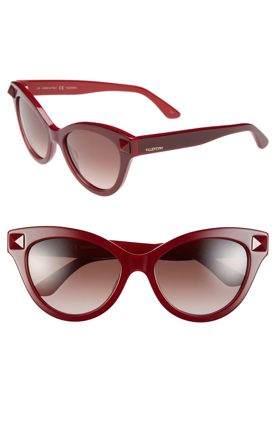 Alternate Image 1 Selected - Valentino 'Rockstud' 53mm Cat Eye Sunglasses