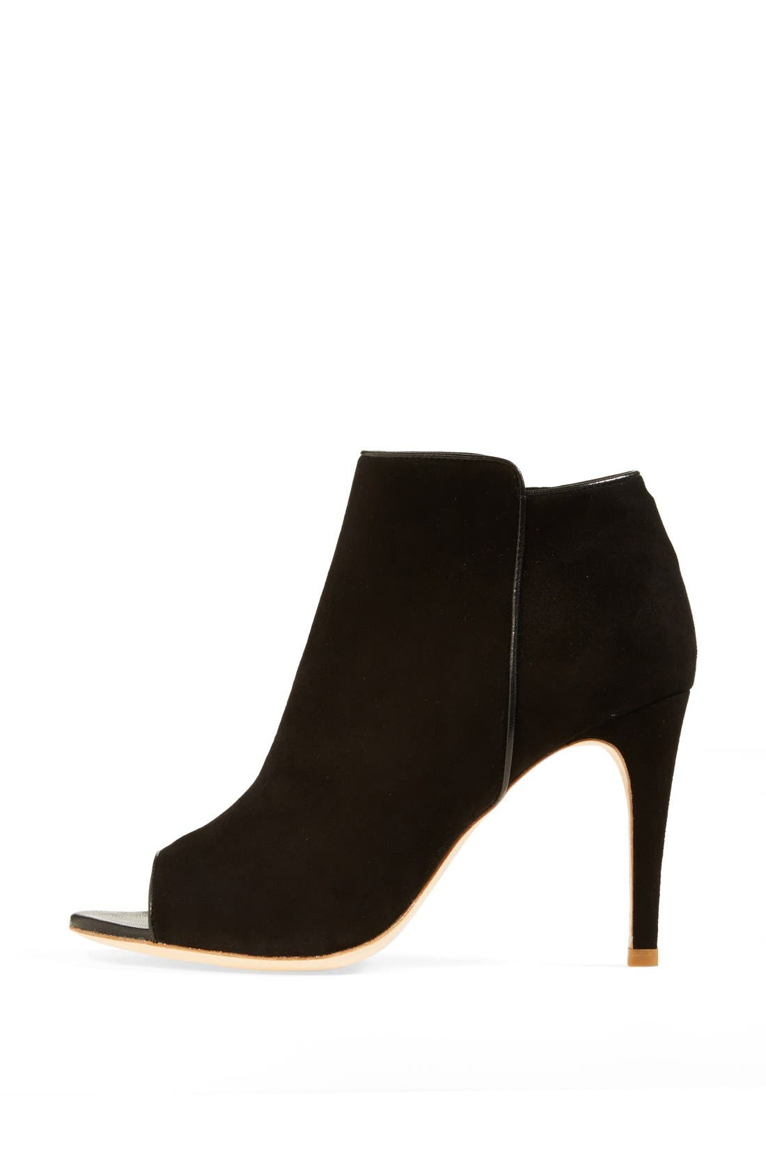 Alternate Image 4  - Joie 'Gwen' Open Toe Suede Bootie (Nordstrom Exclusive) (Women)