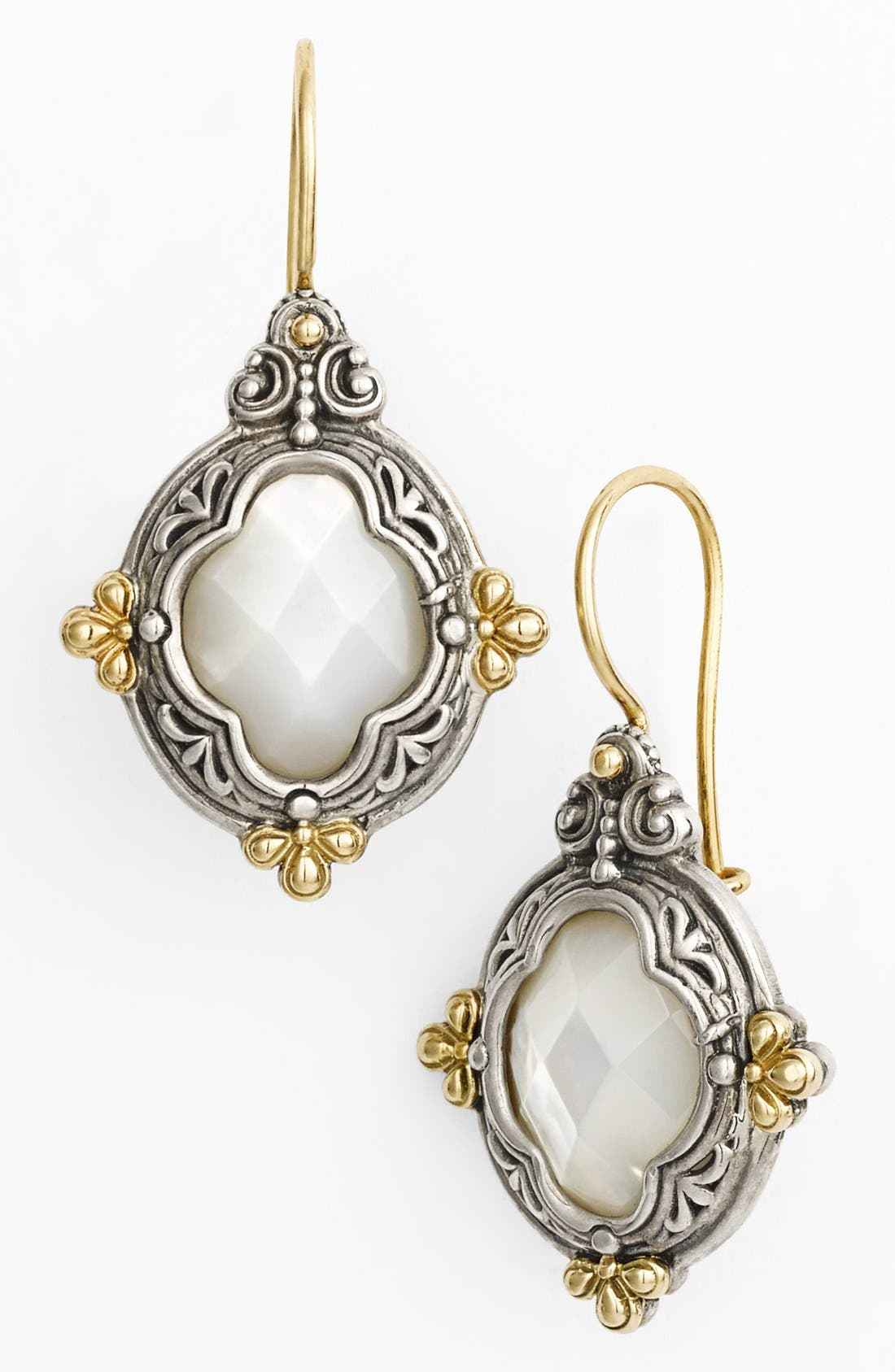 'Selene' Drop Earrings,                             Main thumbnail 1, color,                             Silver/ Gold