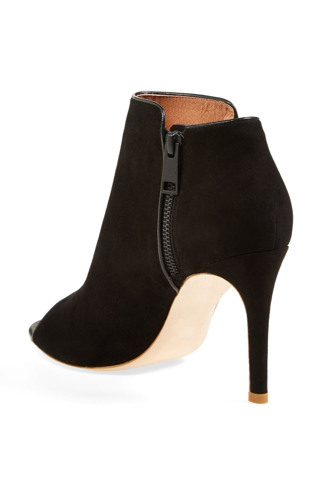 Alternate Image 2  - Joie 'Gwen' Open Toe Suede Bootie (Nordstrom Exclusive) (Women)