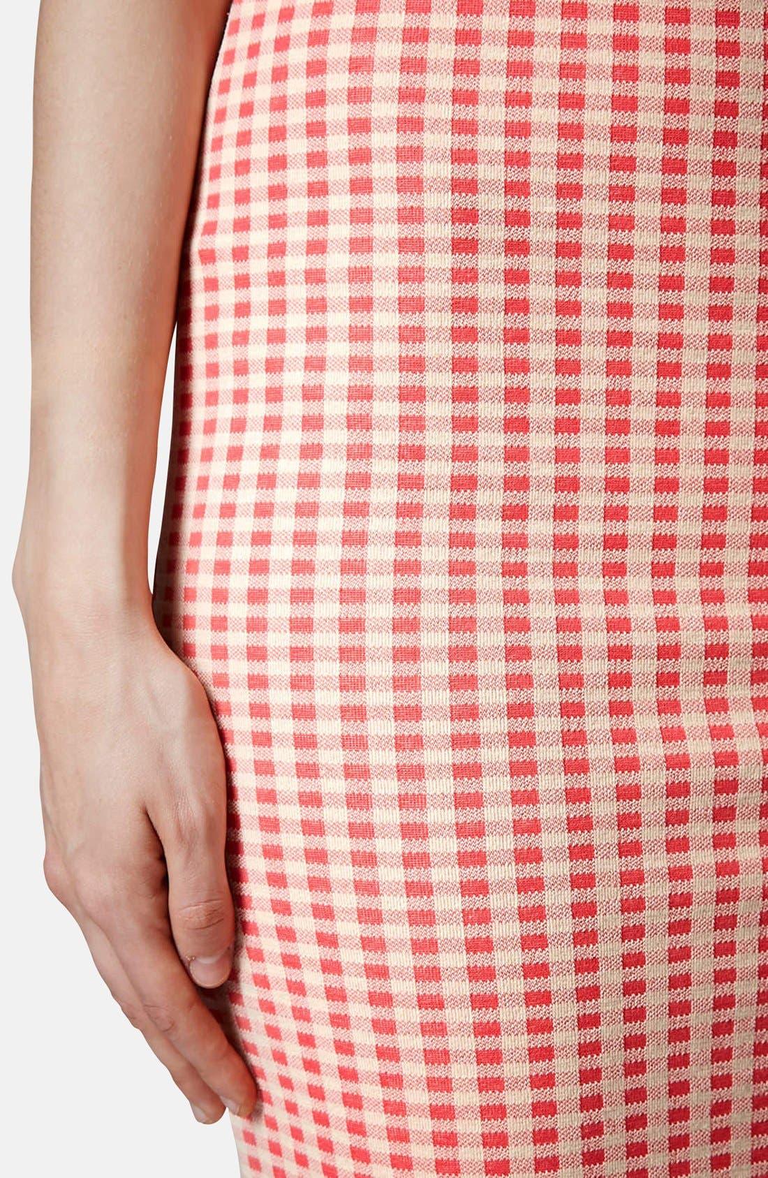 Alternate Image 4  - Topshop Gingham Tube Skirt