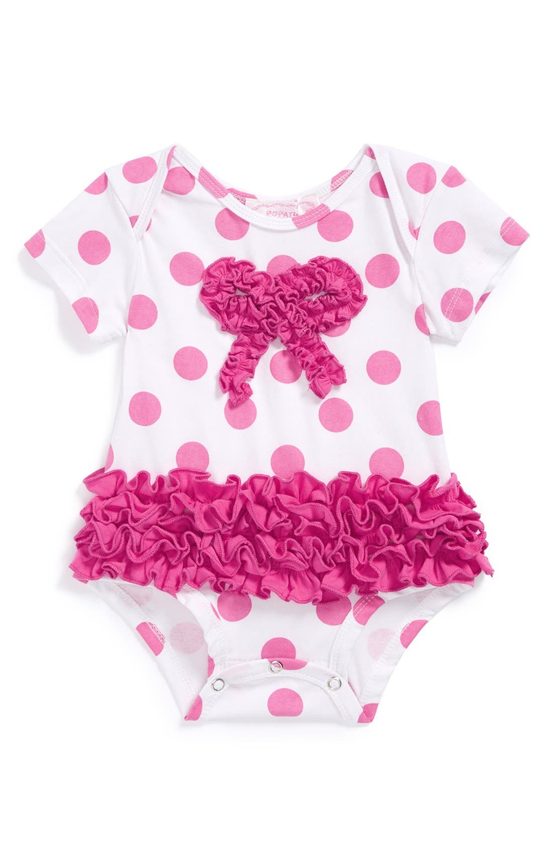 Main Image - Popatu Polka Dot Bodysuit (Baby Girls)