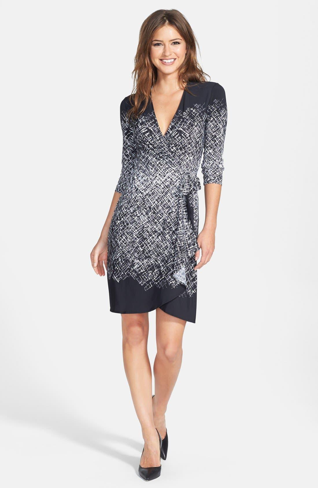 Alternate Image 3  - BCBGMAXAZRIA Engineered Print Matte Jersey Wrap Dress