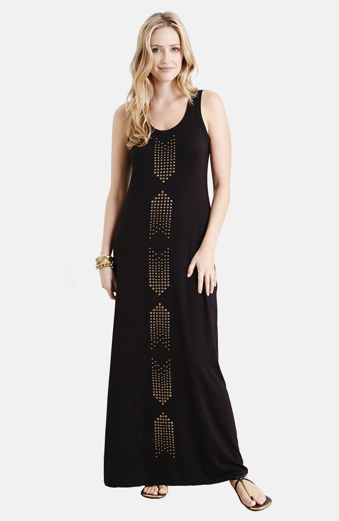 Alternate Image 1 Selected - Karen Kane Studded Maxi Dress