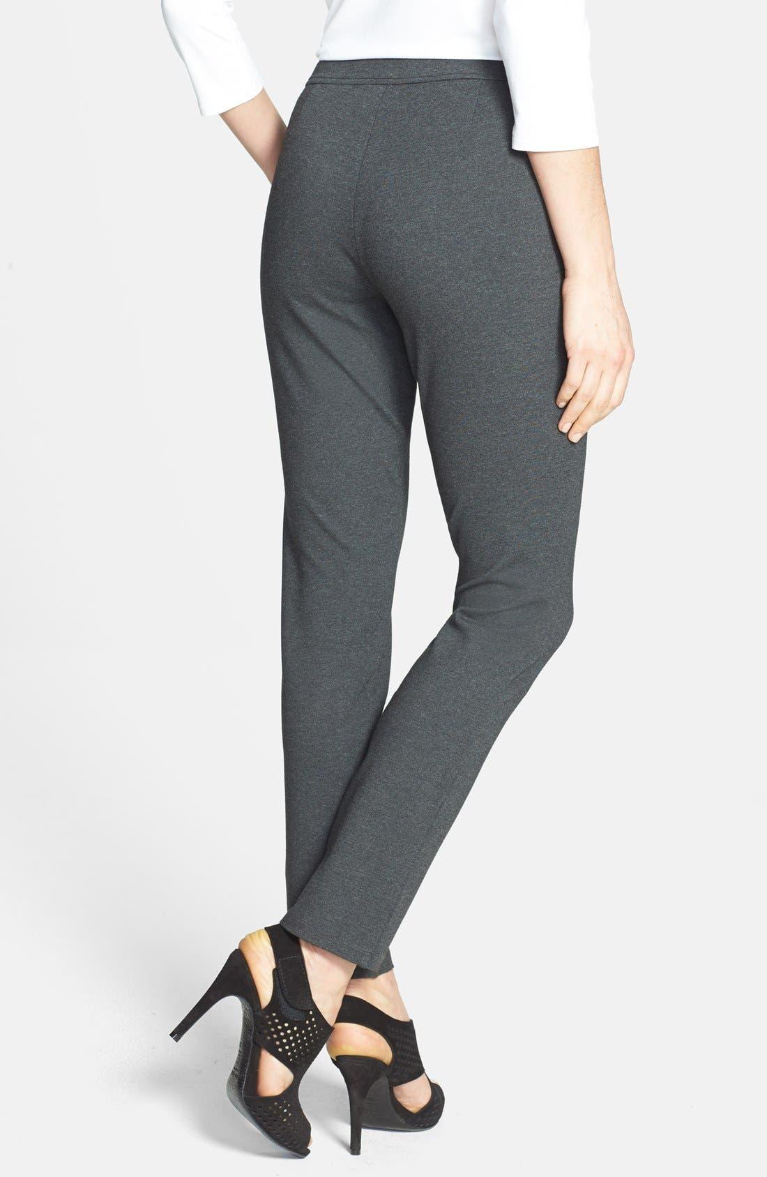 Alternate Image 2  - Eileen Fisher Slim Knit Ankle Pants (Regular & Petite)