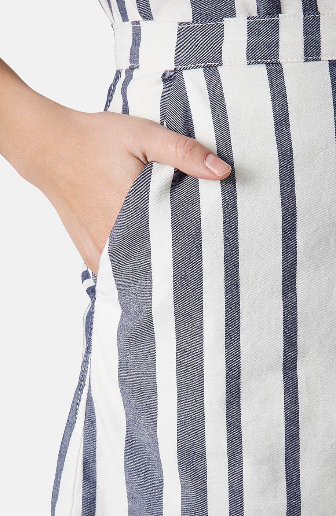 Alternate Image 4  - Topshop Moto Stripe Denim Skirt