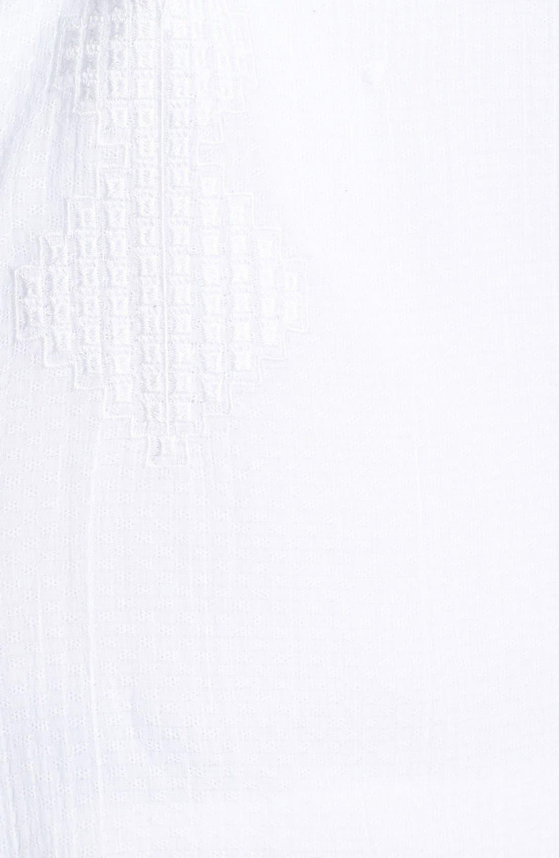 Alternate Image 3  - Sejour Cotton Dobby Blouse (Plus Size)