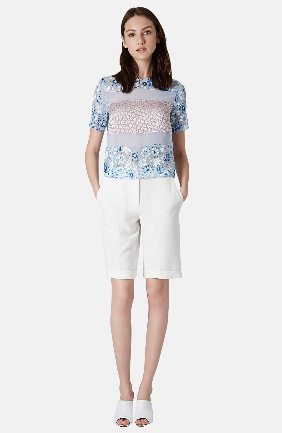 Alternate Image 5  - Topshop Mixed Floral Woven Top