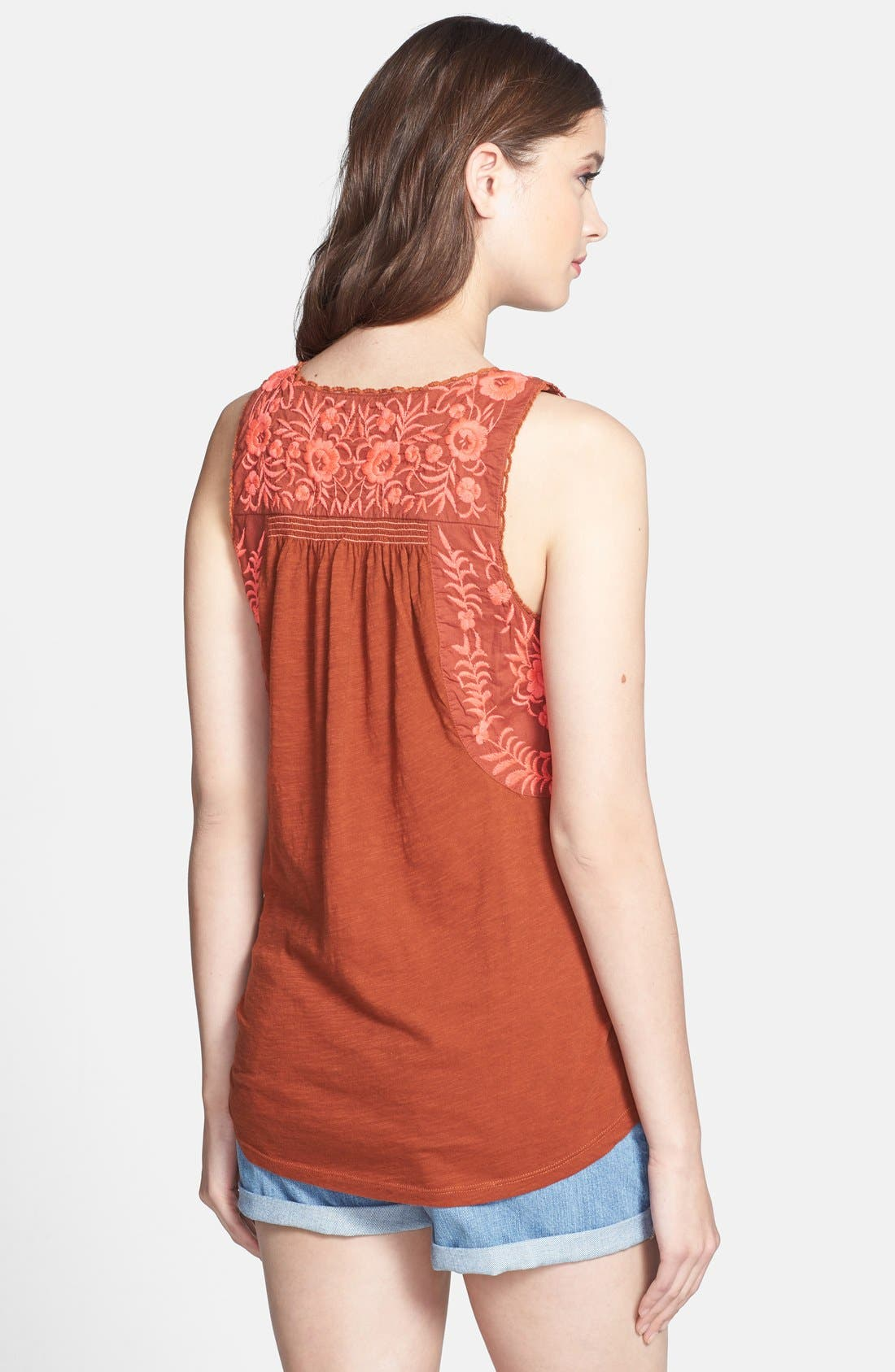 Alternate Image 2  - Lucky Brand 'Rosalina' Embroidered Top