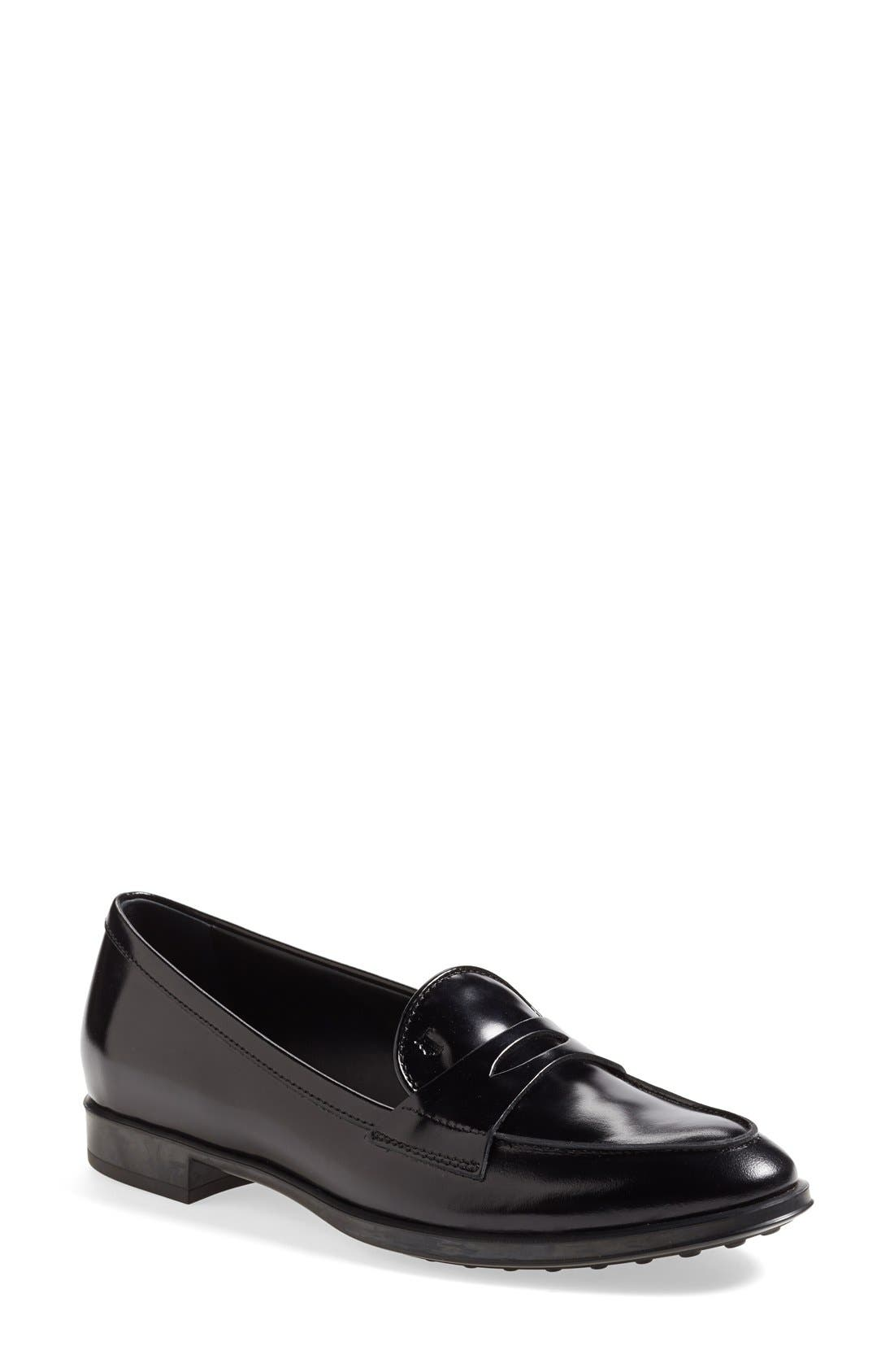 Alternate Image 1 Selected - Tod's Leather Penny Loafer (Women)