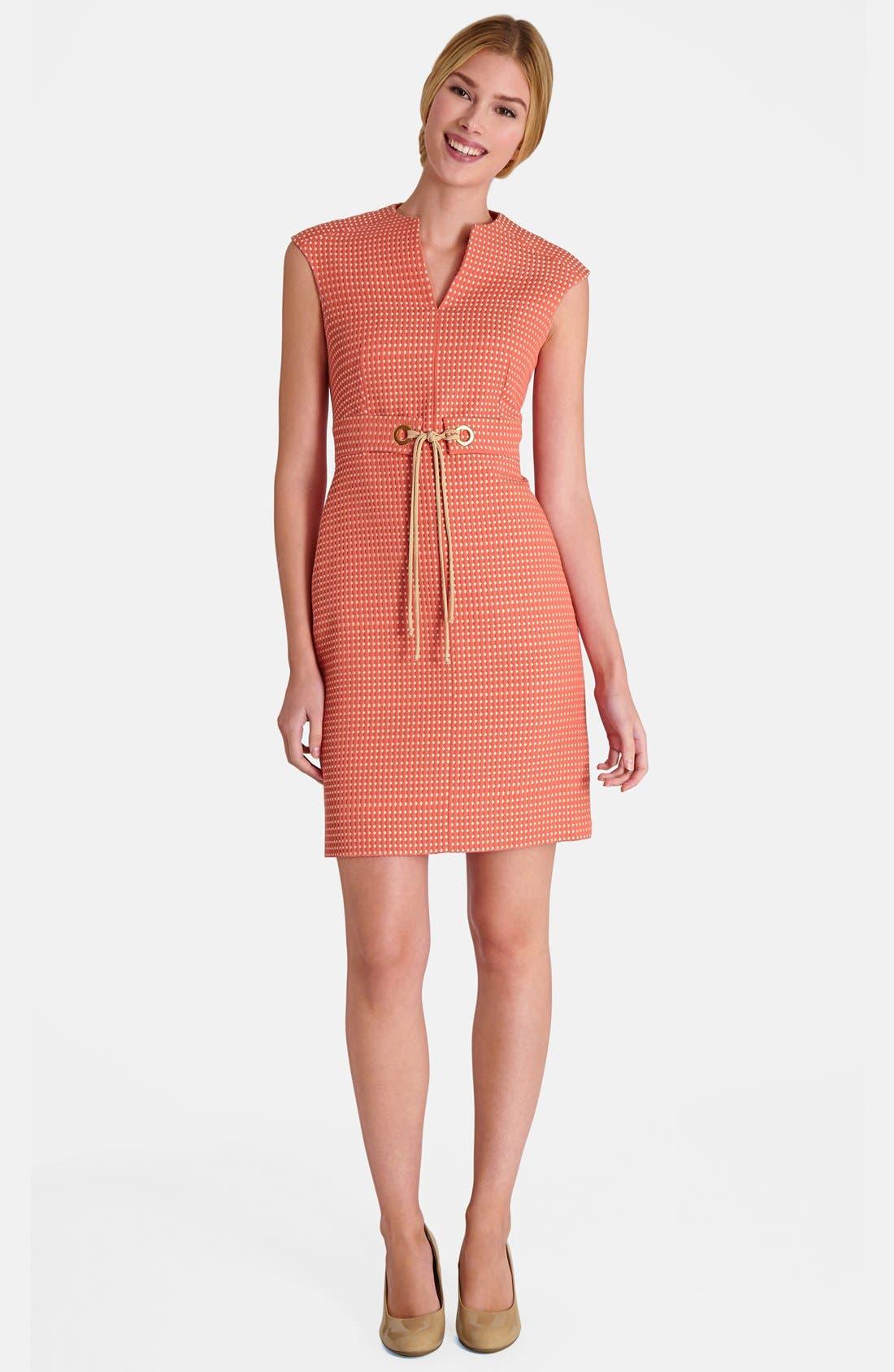 Alternate Image 3  - Tahari Jacquard Sheath Dress (Petite)