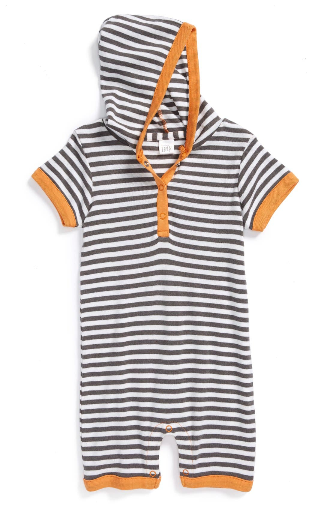 Alternate Image 1 Selected - Nordstrom Baby Hooded Romper (Baby)