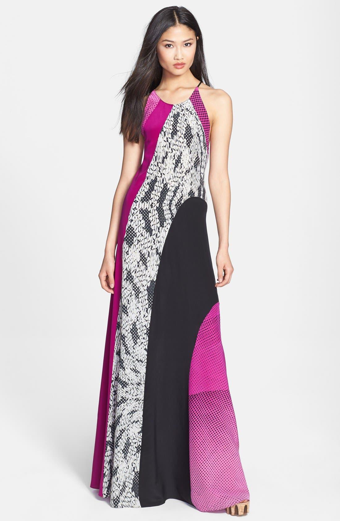 Alternate Image 1 Selected - Diane von Furstenberg 'Naomi' Silk Maxi Dress