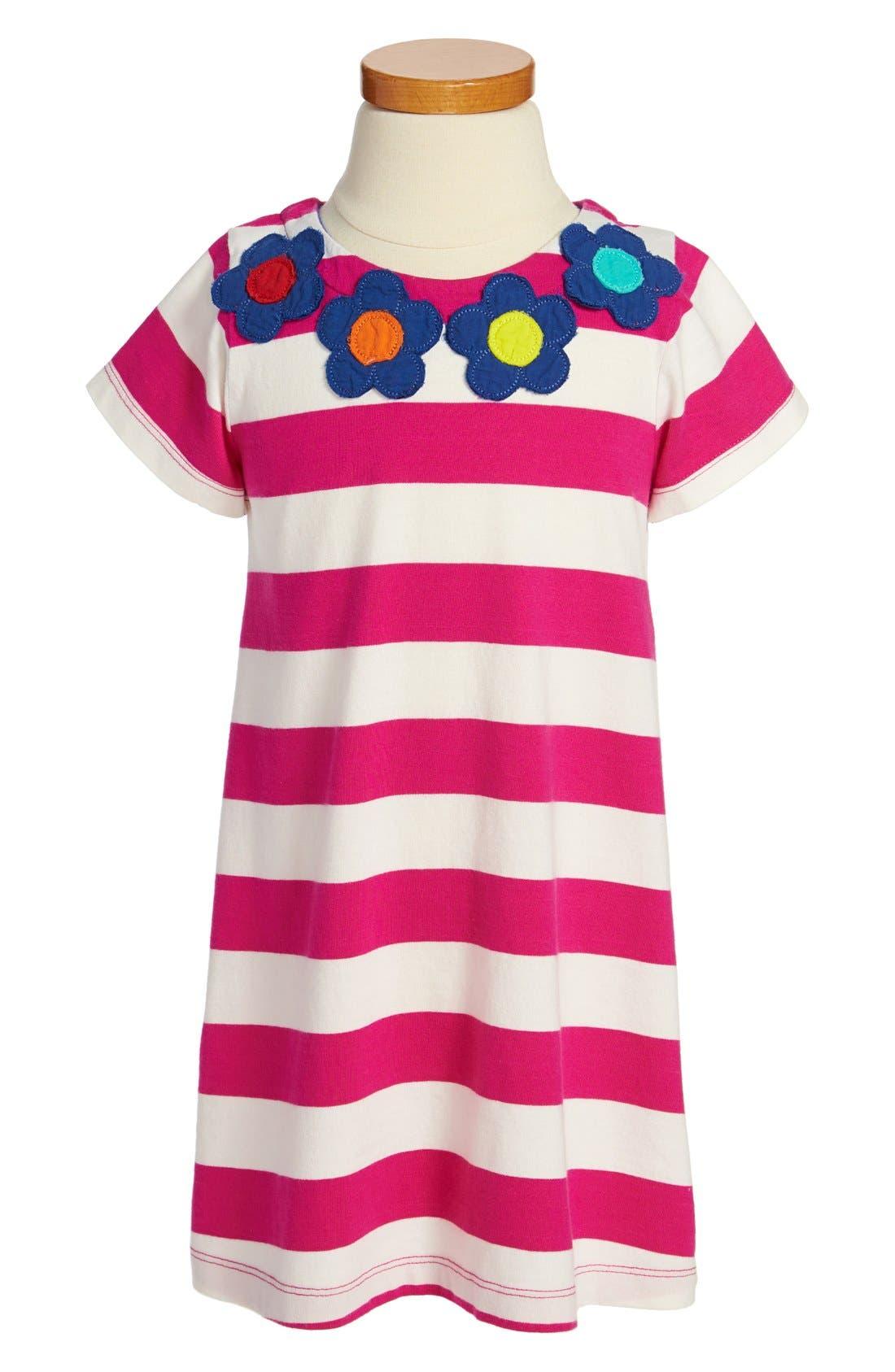 Alternate Image 1 Selected - Mini Boden Appliqué Cotton Dress (Toddler Girls, Little Girls & Big Girls)