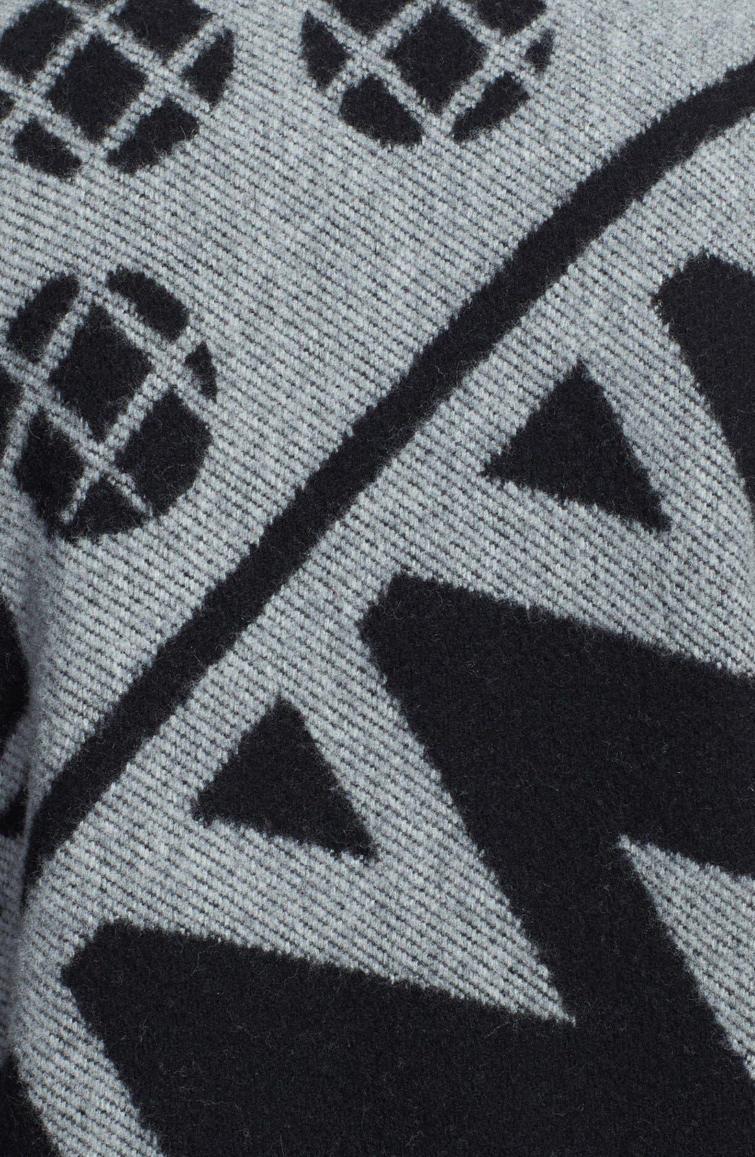 Alternate Image 4  - Burberry Prorsum Jacquard Wool & Cashmere Blanket Coat