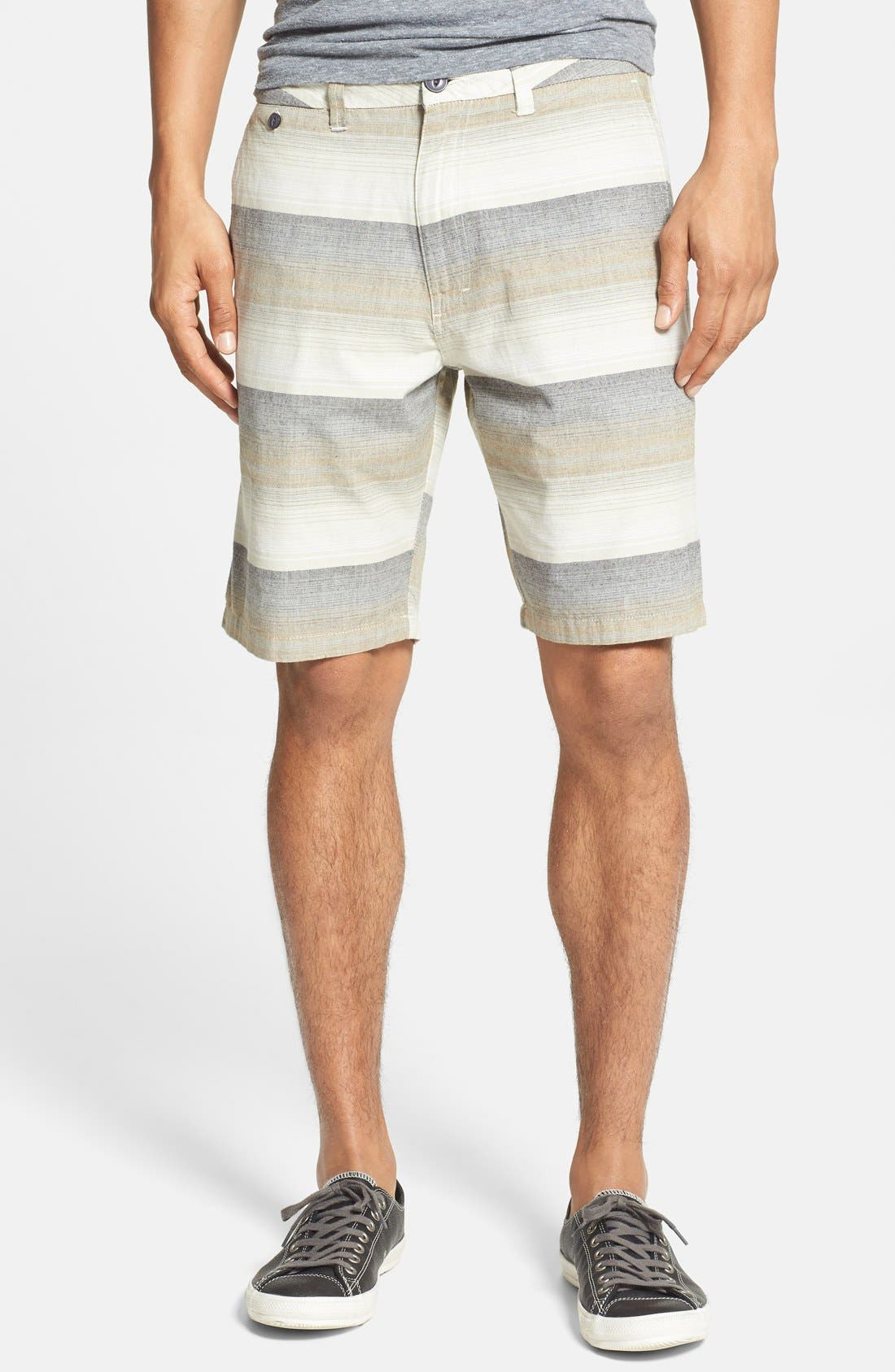 Alternate Image 1 Selected - O'Neill 'Compass' Print Cotton Shorts