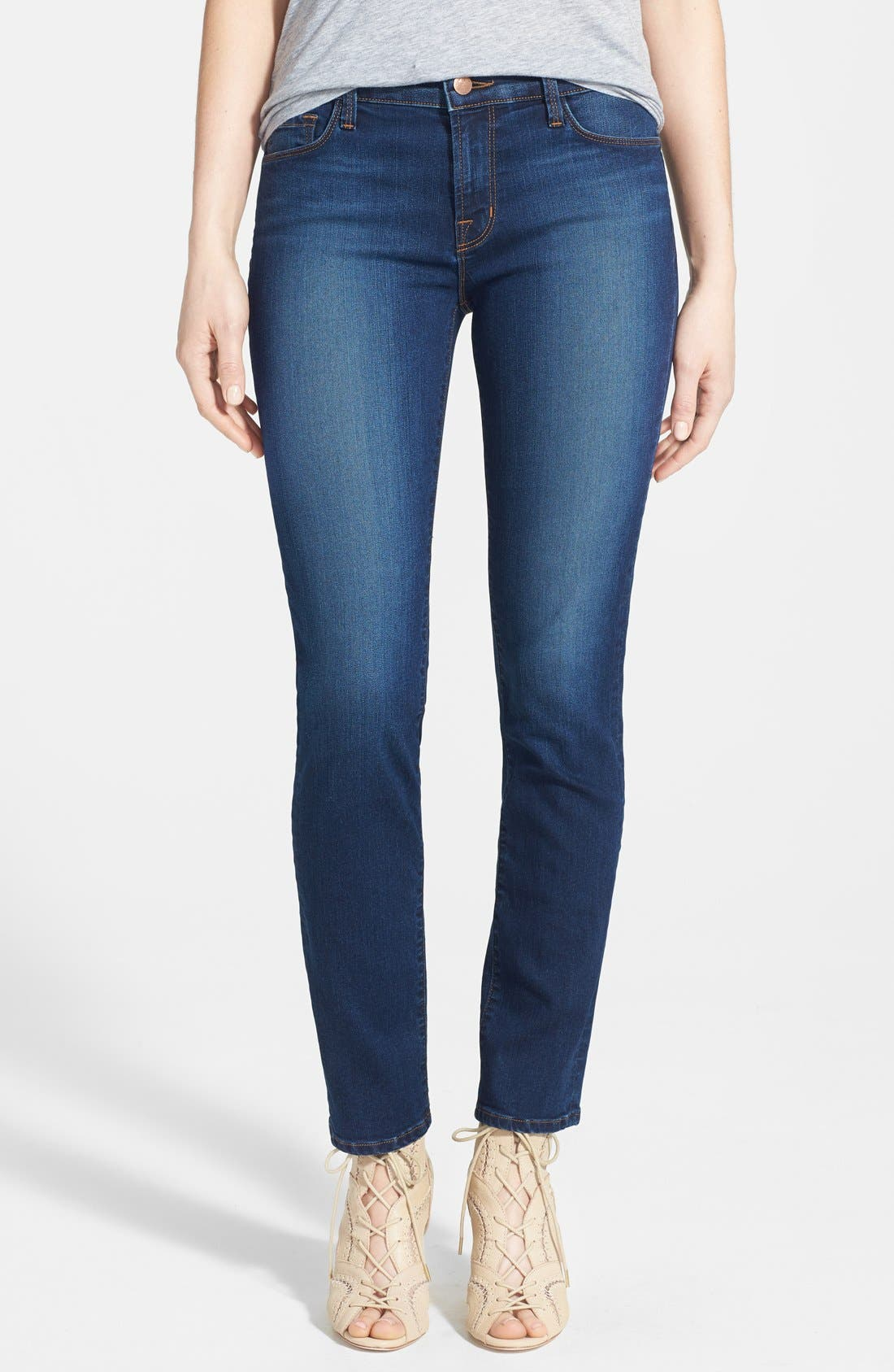 Alternate Image 1 Selected - J Brand '811' Skinny Stretch Jeans (Saltwater)
