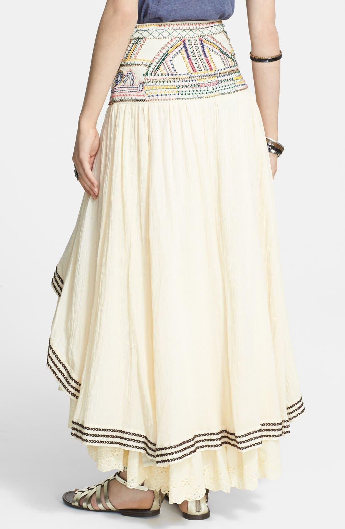 Alternate Image 2  - Free People 'Prairie Dreams' Cotton Blend High/Low Skirt