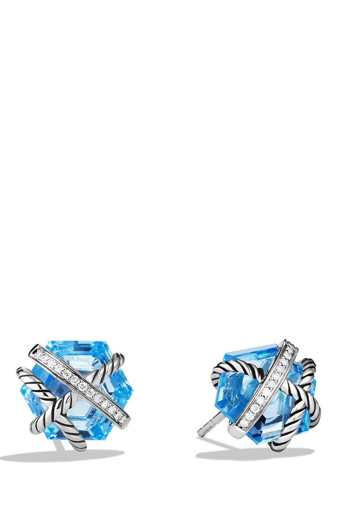 David Yurman 'Cable Wrap' Earrings with Semiprecious Stones & Diamonds