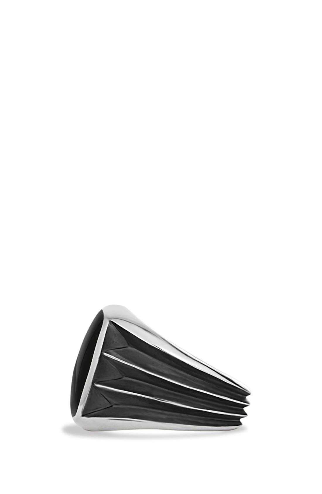 'Royal Cord' Knife Edge Signet Ring with Black Onyx,                             Alternate thumbnail 4, color,                             Black Onyx