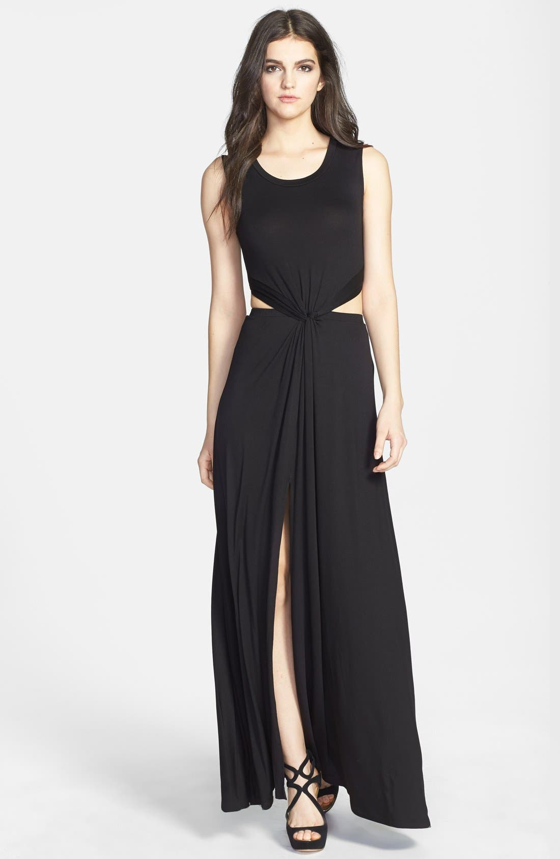 Alternate Image 1 Selected - ASTR Twist Front Maxi Dress