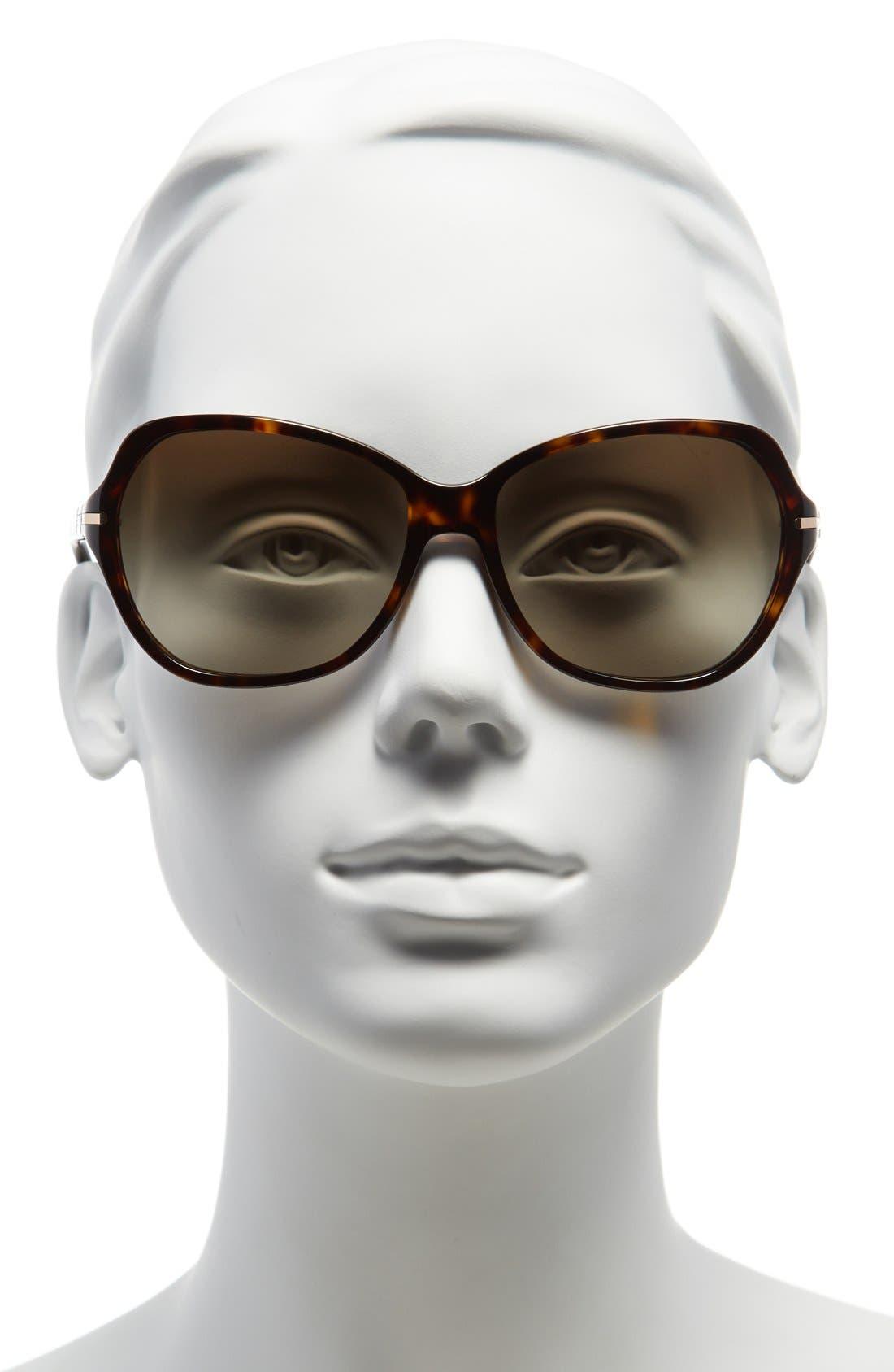 Alternate Image 2  - Tory Burch 58mm Logo Bar Square Sunglasses