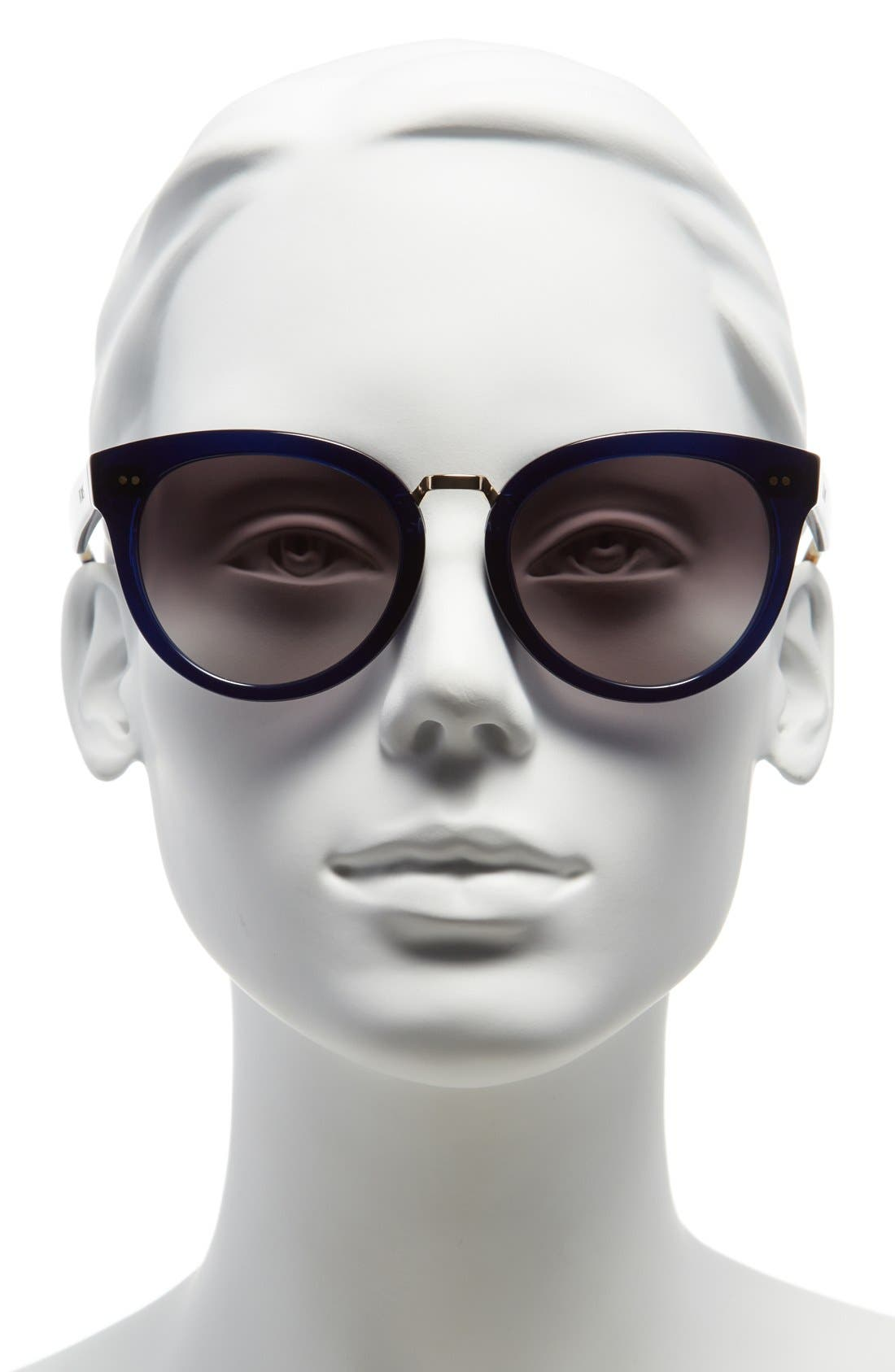 'Yvette' 52mm Sunglasses,                             Alternate thumbnail 2, color,                             Indigo Crystal