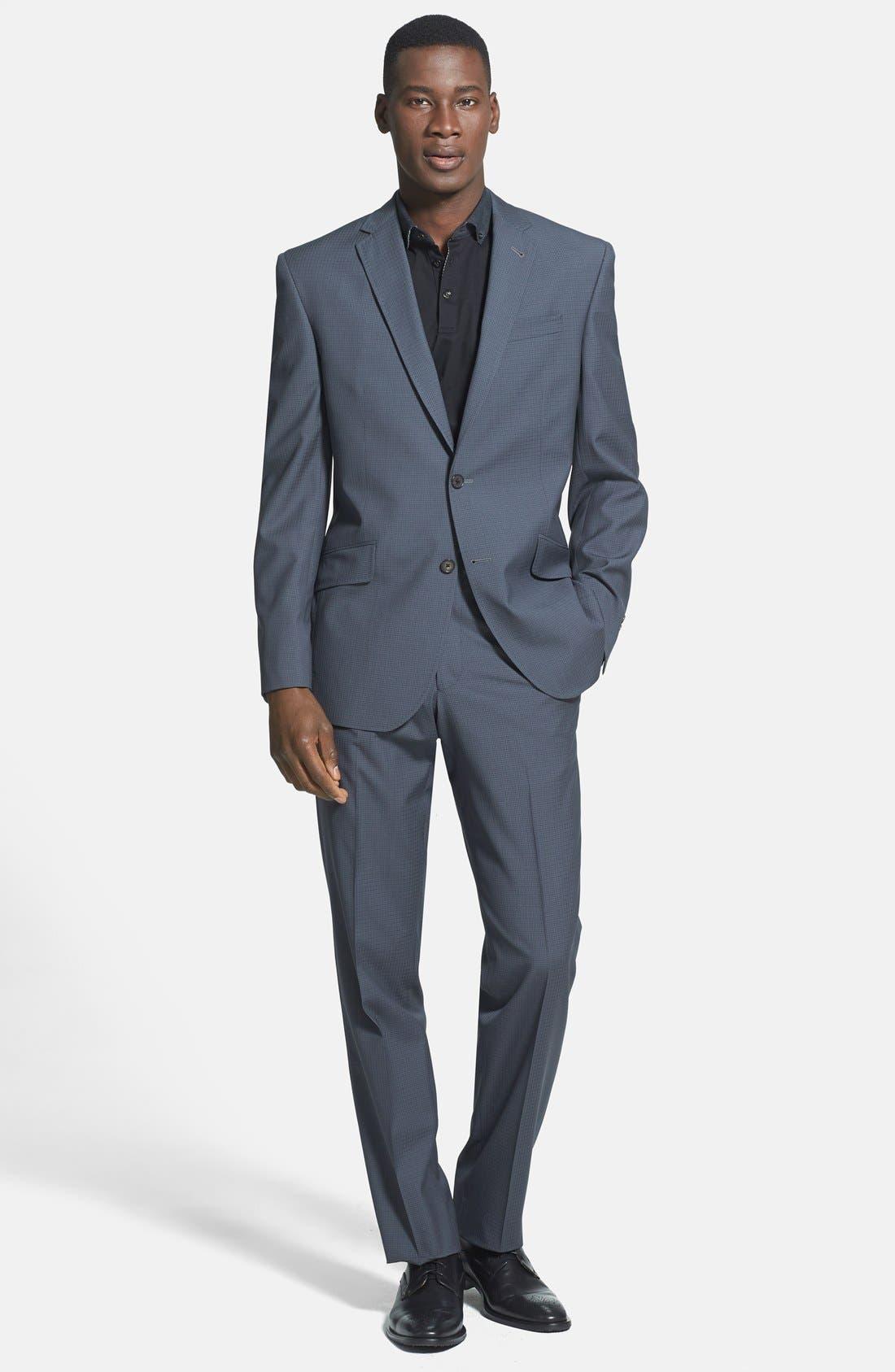 Main Image - Ted Baker London 'Jones' Trim Fit Check Suit (Online Only)
