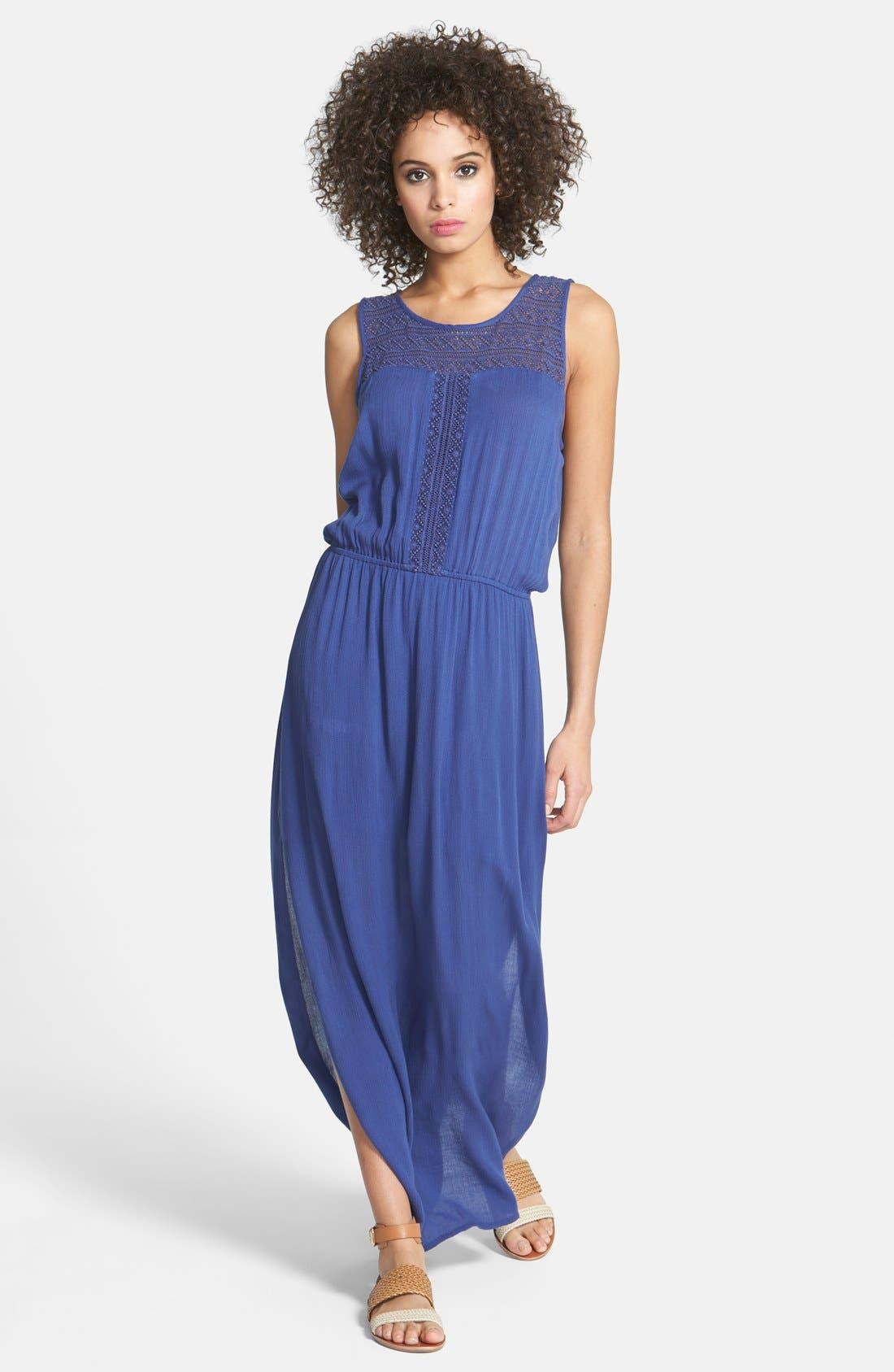 Alternate Image 1 Selected - Hinge® Crochet Bodice Maxi Dress