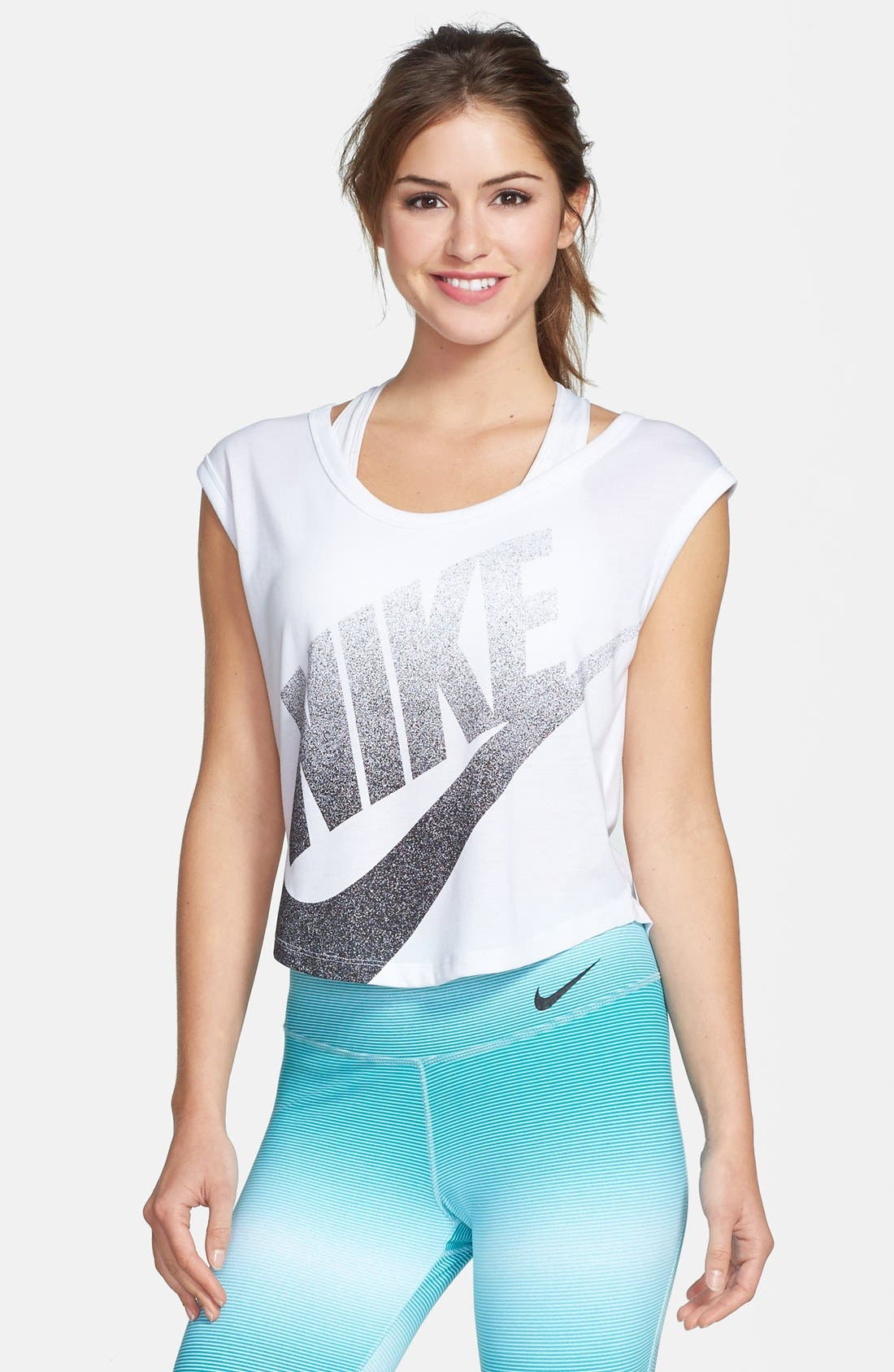 Alternate Image 1 Selected - Nike 'Signal' Crop Tee