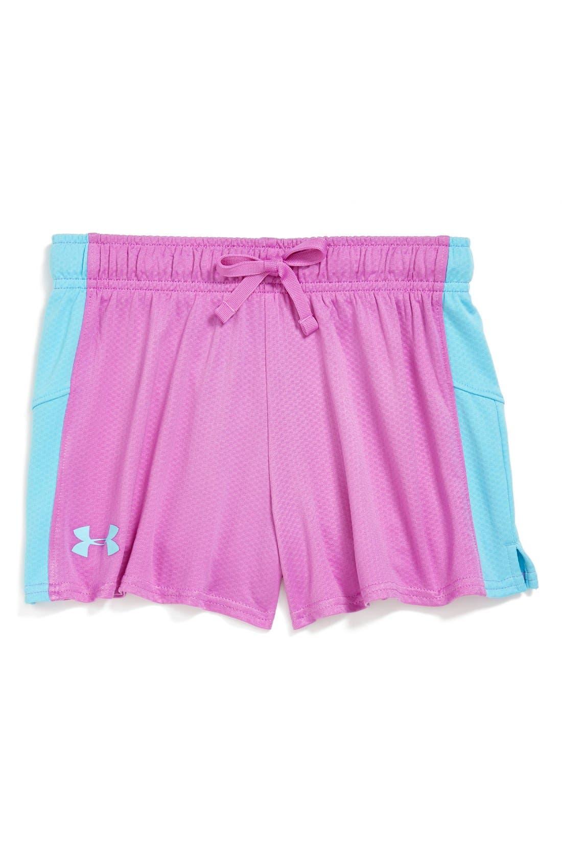 Main Image - Under Armour 'Intensity' HeatGear® Shorts (Big Girls)