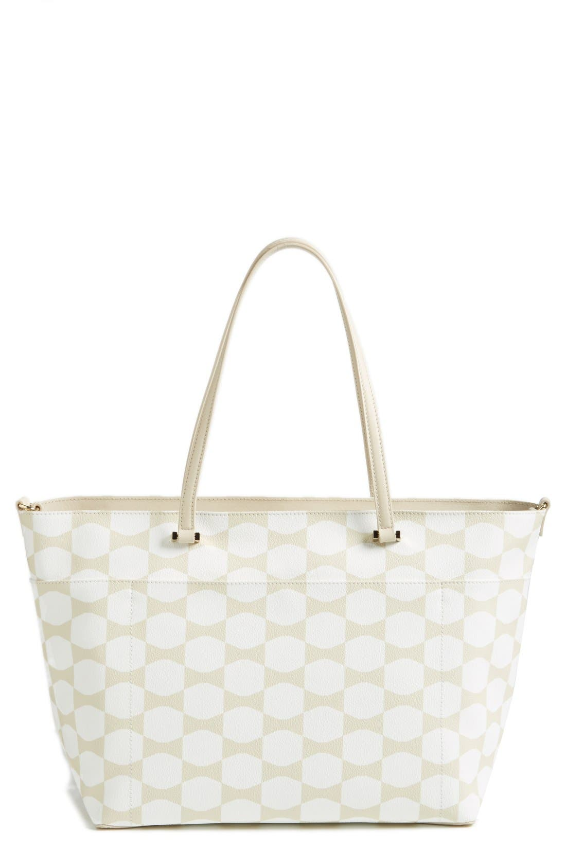 'bow tile - francis' baby bag,                             Alternate thumbnail 4, color,                             Cream/ Sandy Beach Multi