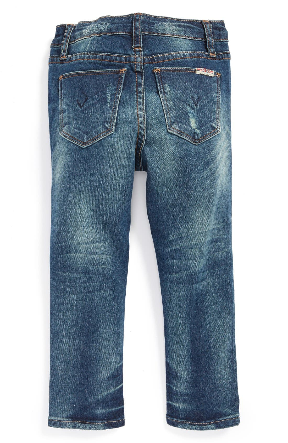 Alternate Image 1 Selected - Hudson Kids 'Dolly' Distressed Skinny Jeans (Toddler Girls)