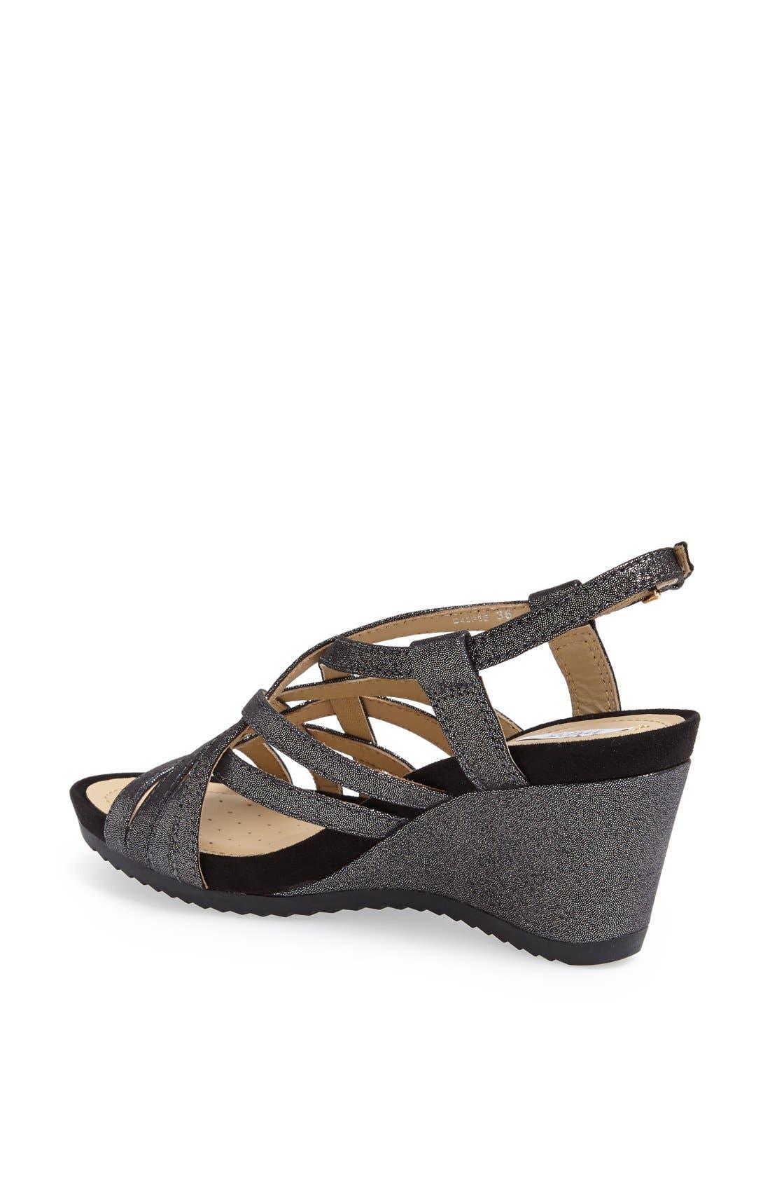 Alternate Image 2  - Geox 'Roxy' Metallic Leather Sandal (Women)