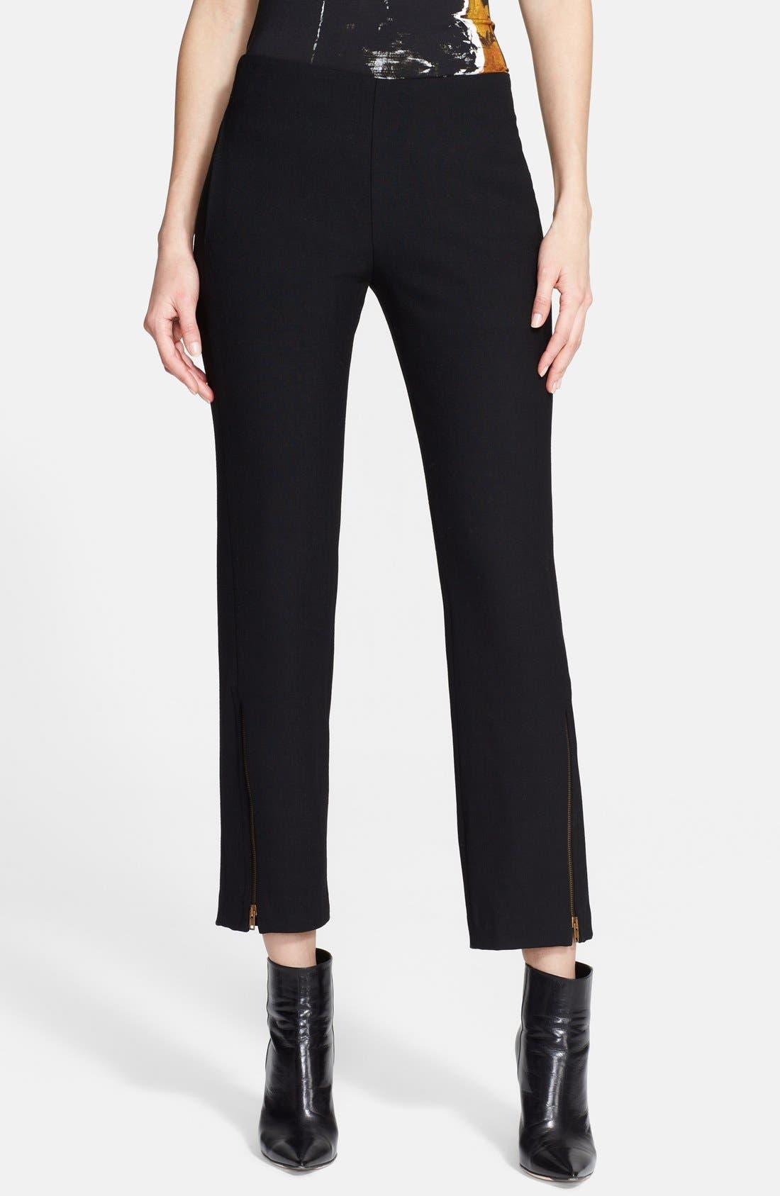 Alternate Image 1 Selected - Donna Karan Collection Zip Detail Crop Trousers