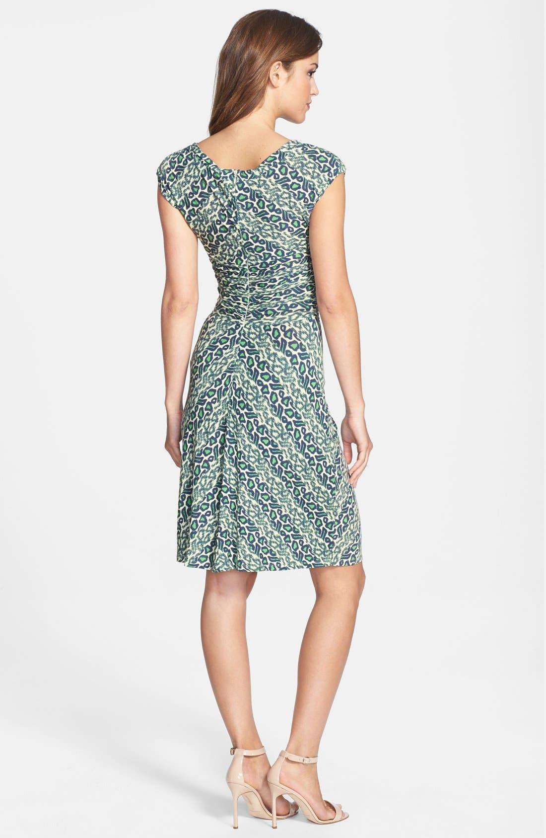 Alternate Image 2  - Plenty by Tracy Reese 'Brooke' Print Knotted Jersey Sheath Dress
