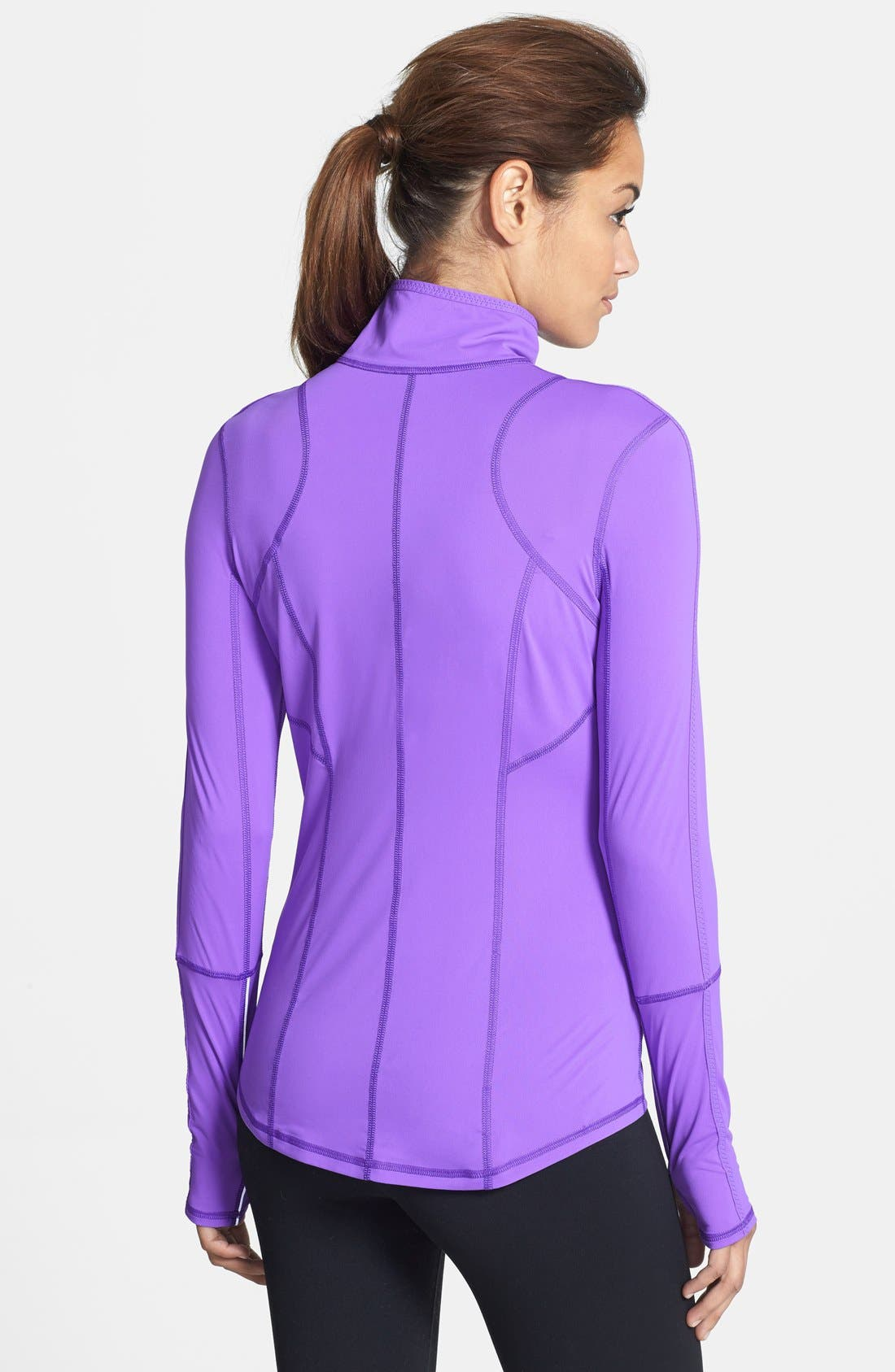 Alternate Image 2  - Zella 'On the Run' Half Zip Top
