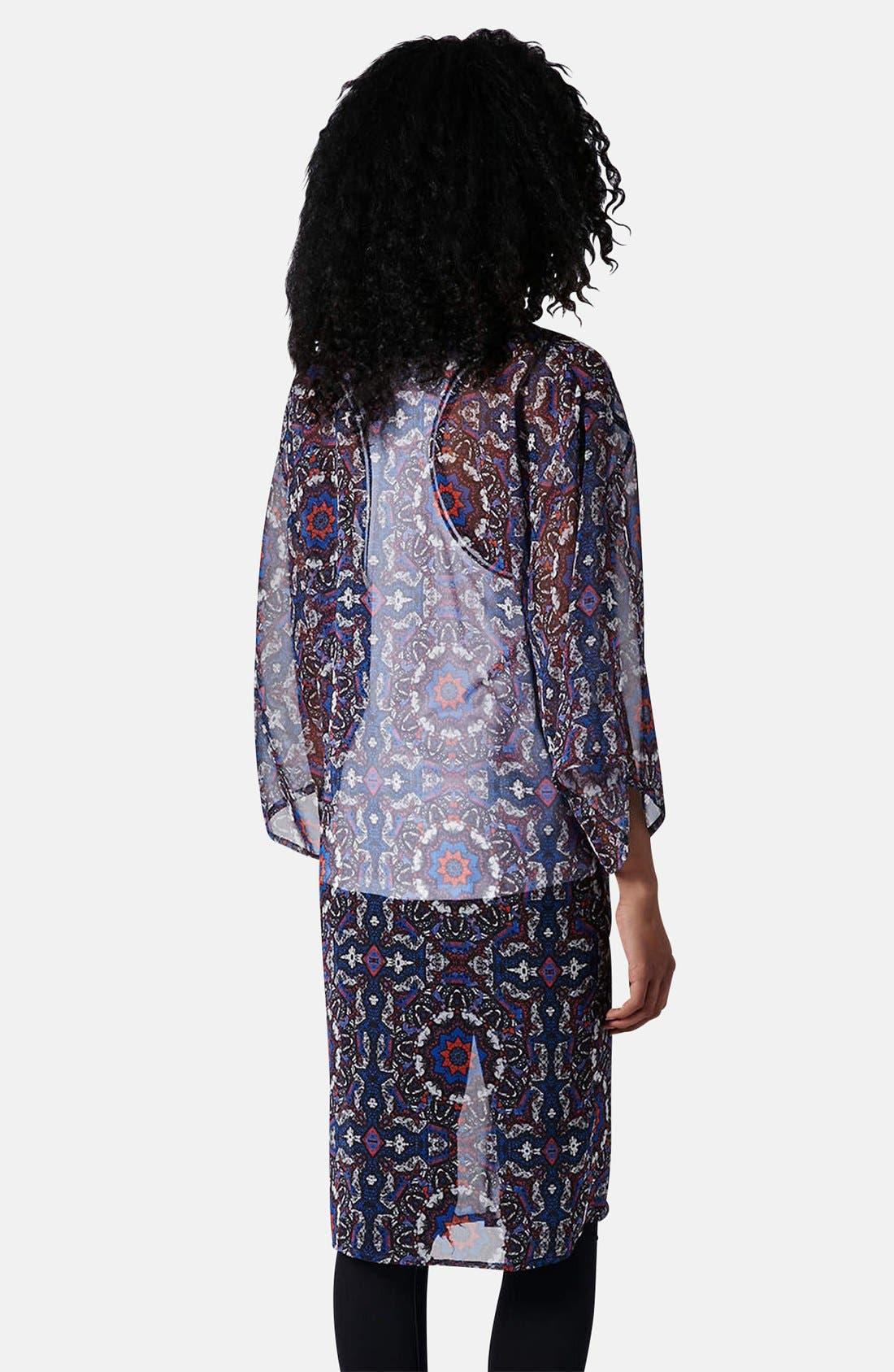 Kaleidoscope Print Kimono,                             Alternate thumbnail 2, color,                             Blue Multi