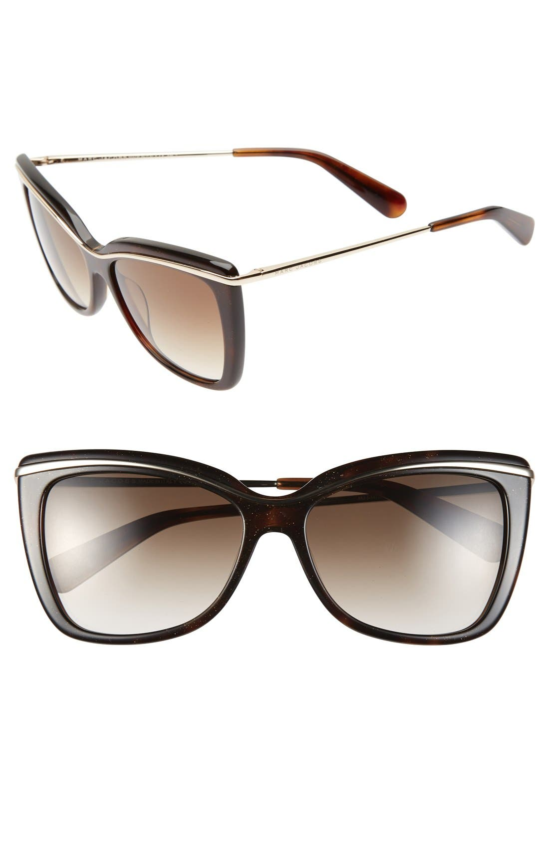 Main Image - MARC JACOBS 56mm Cat Eye Sunglasses